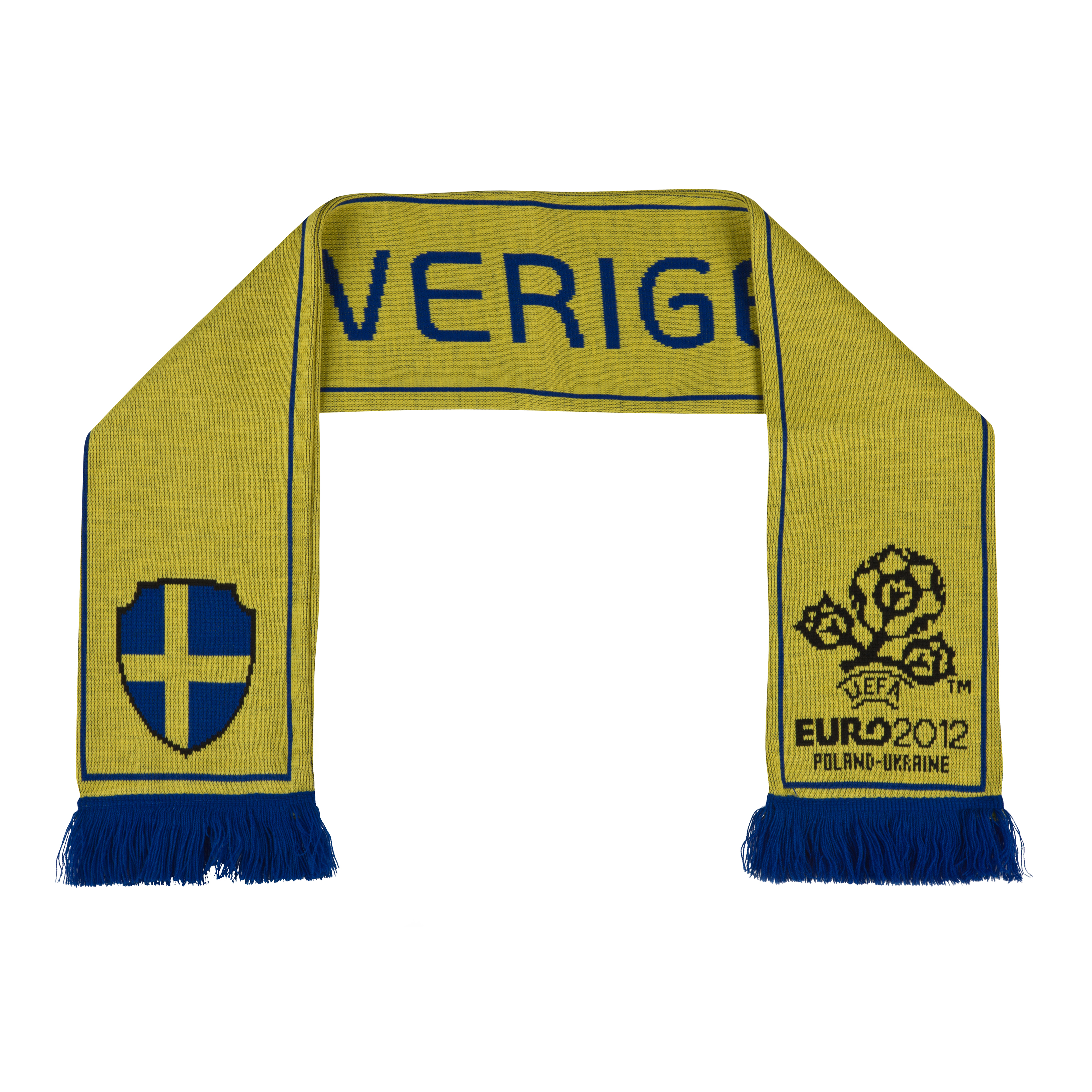 Sweden Jacquard Scarf - Yellow/Blue