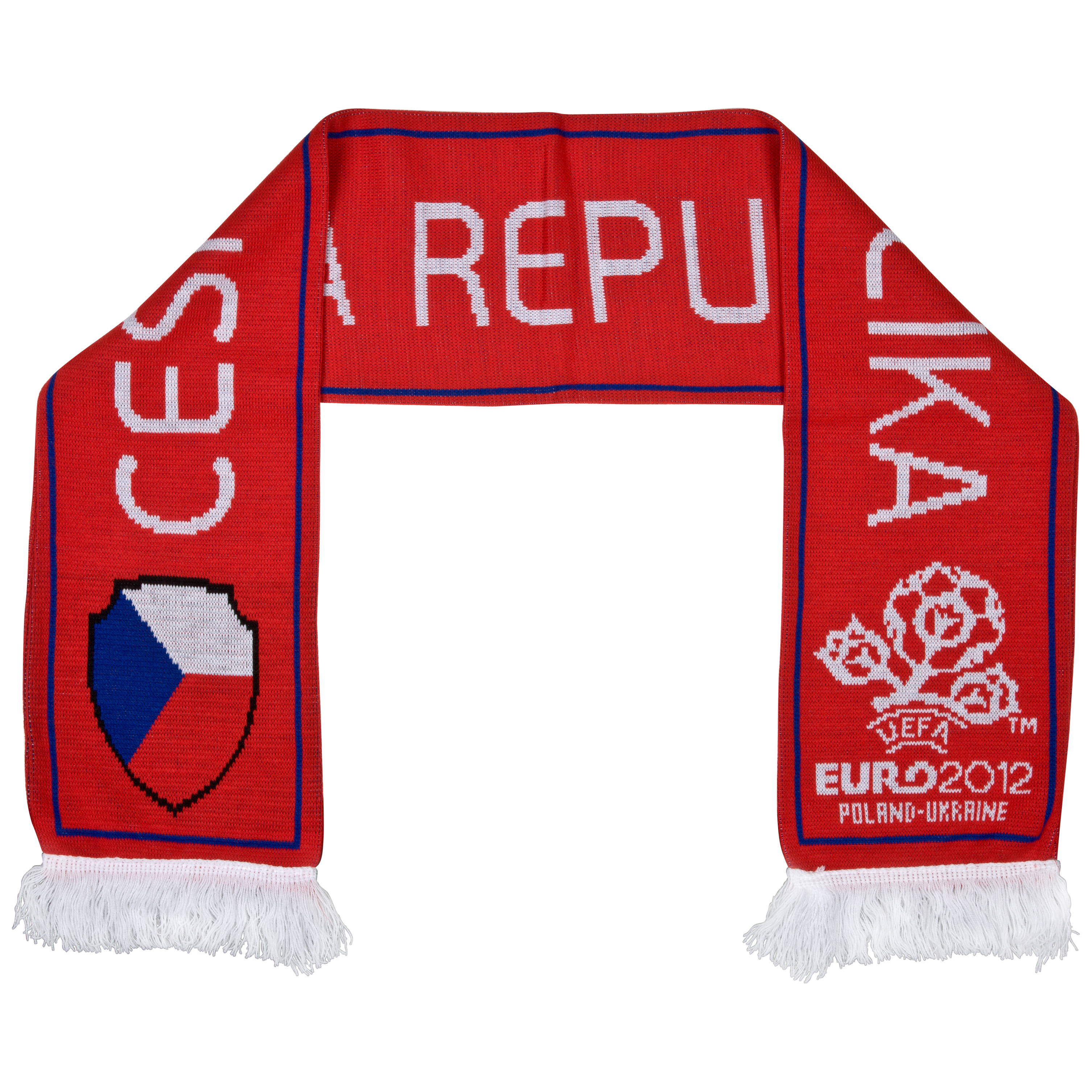Euro 2012 Czech Republic Jacquard Scarf - Red/White