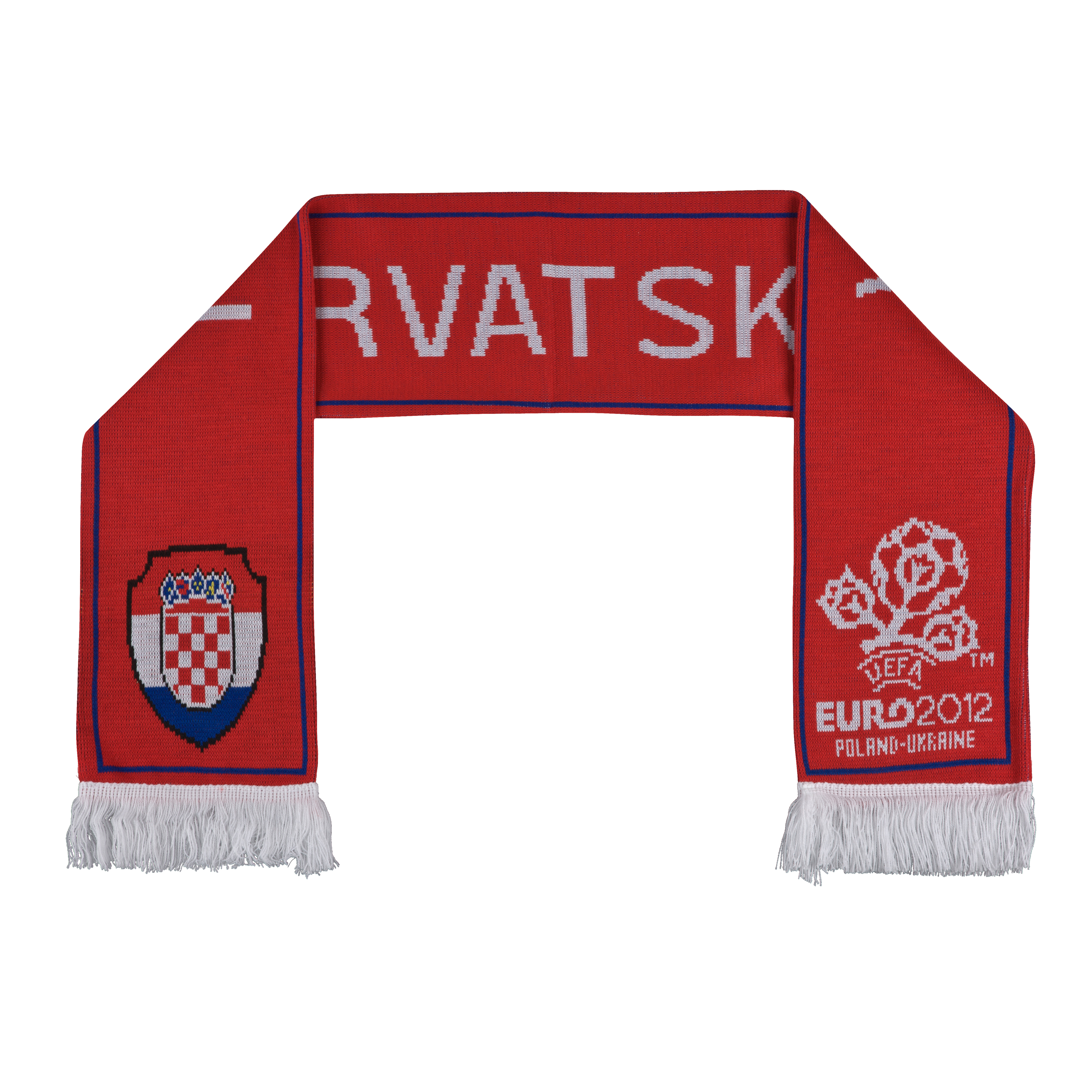 Croatia Jacquard Scarf - Red/White