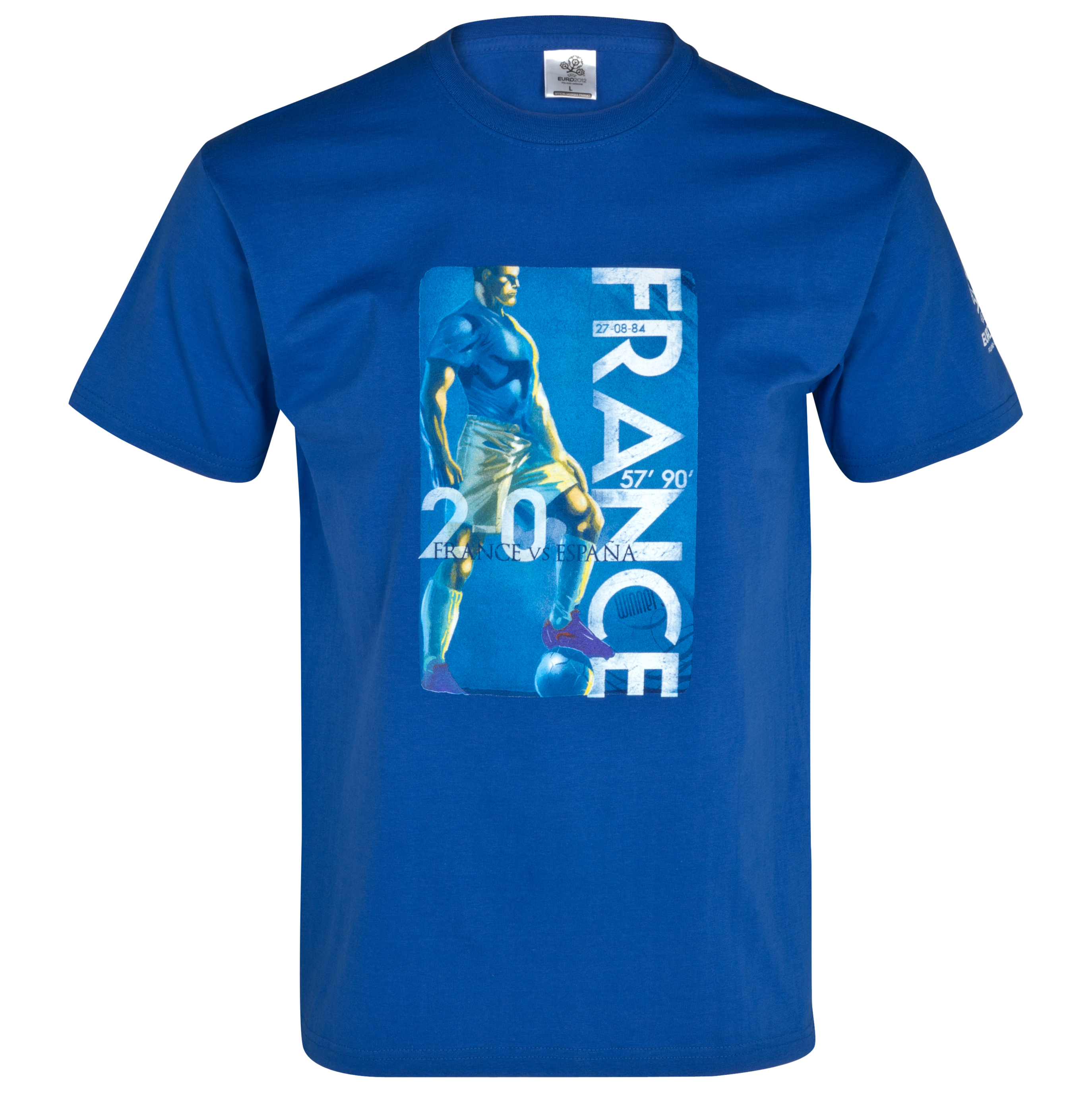 Euro 2012 France Winners 1984 T-Shirt - Blue