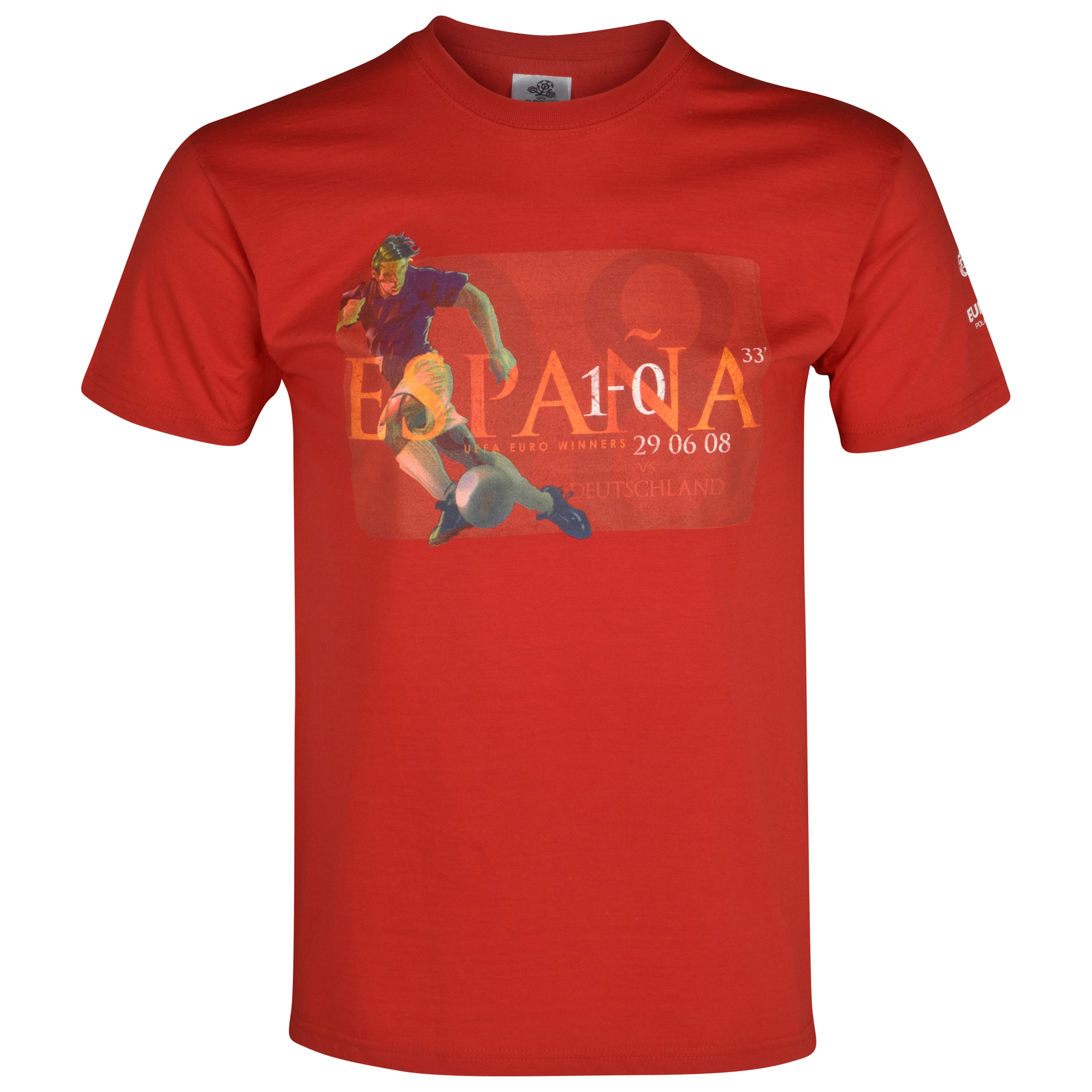Euro 2012 Spain Winners 2008 T-Shirt - Red