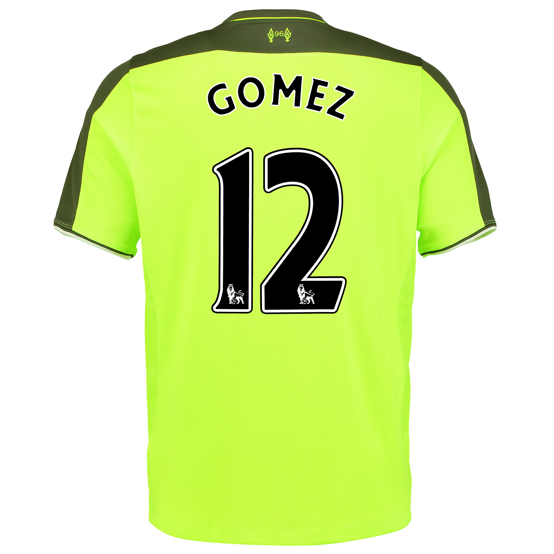 Liverpool Third Infant Kit 2016-17 with Gomez 12 printing, Green