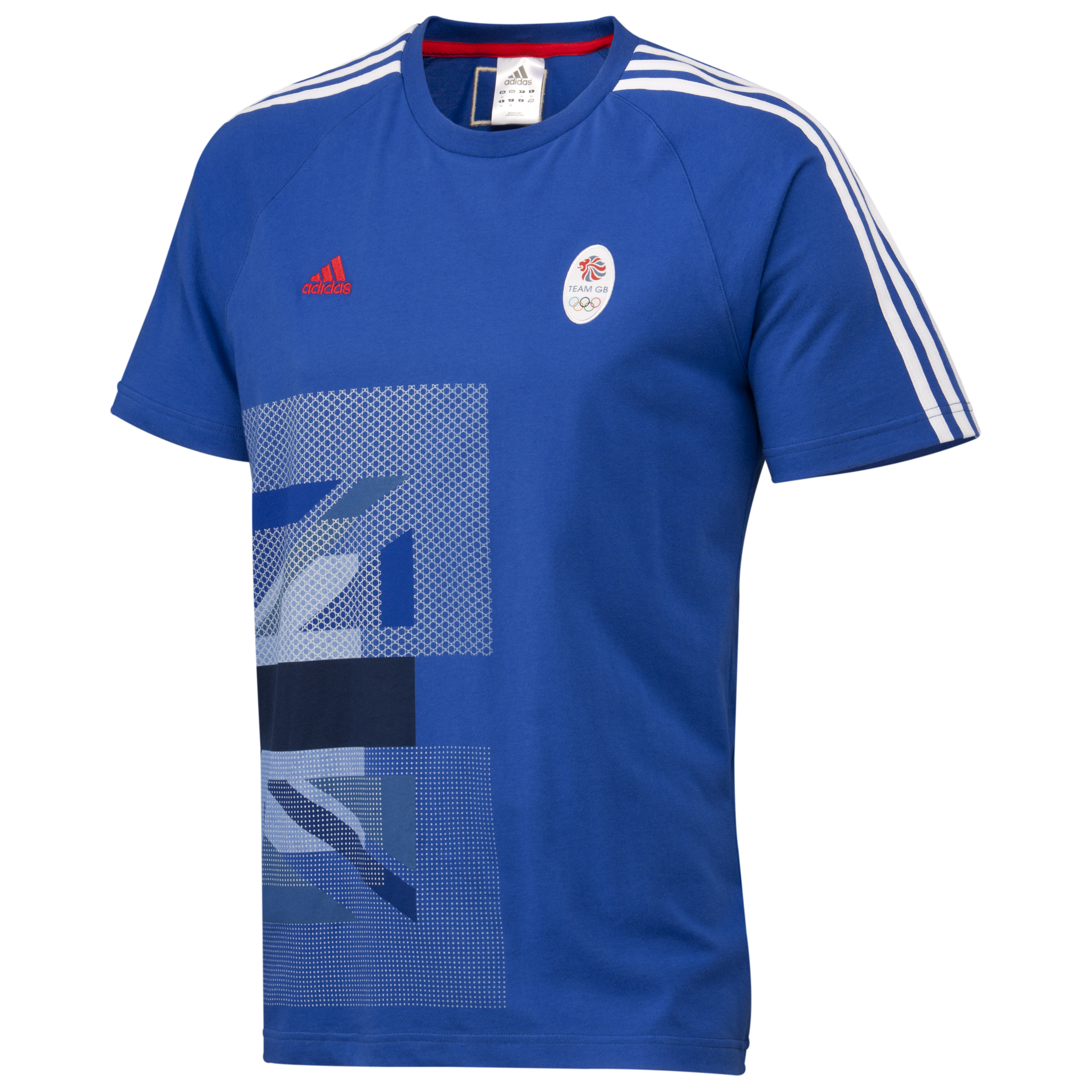 adidas Team GB Graphic T-Shirt - Victory Blue S07/White