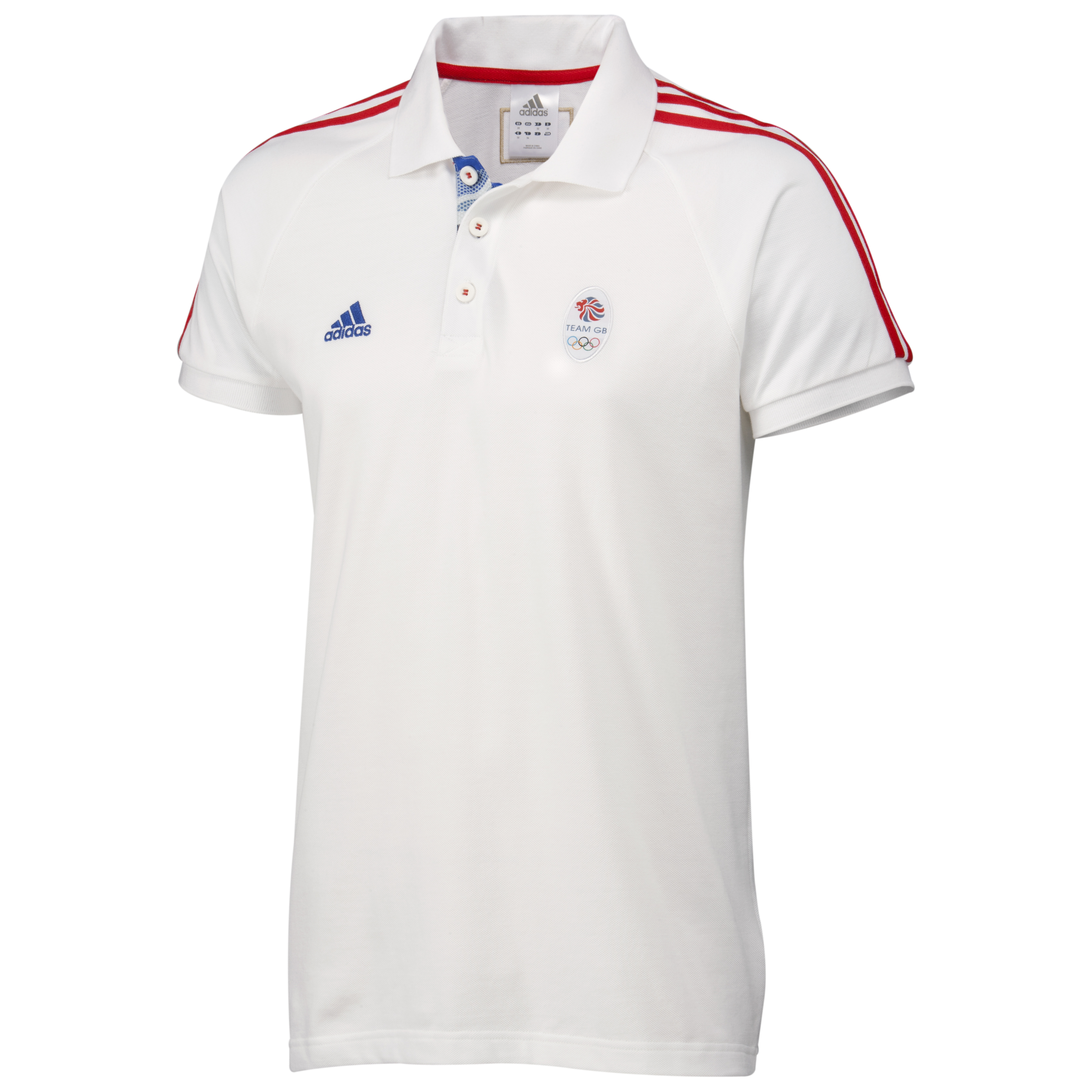 adidas Team GB Polo - White/Vivid Red F04