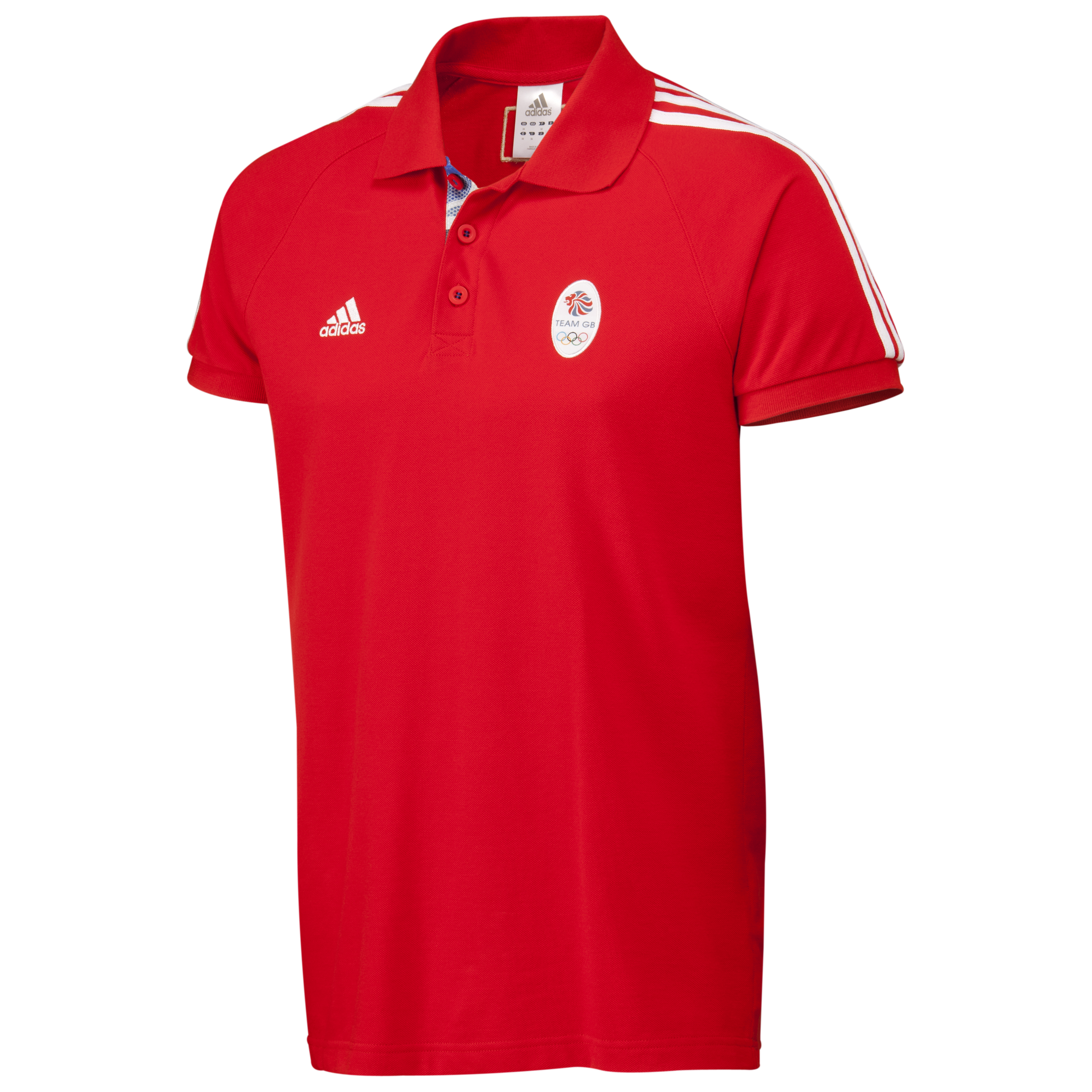 adidas Team GB Polo - Vivid Red F04/White