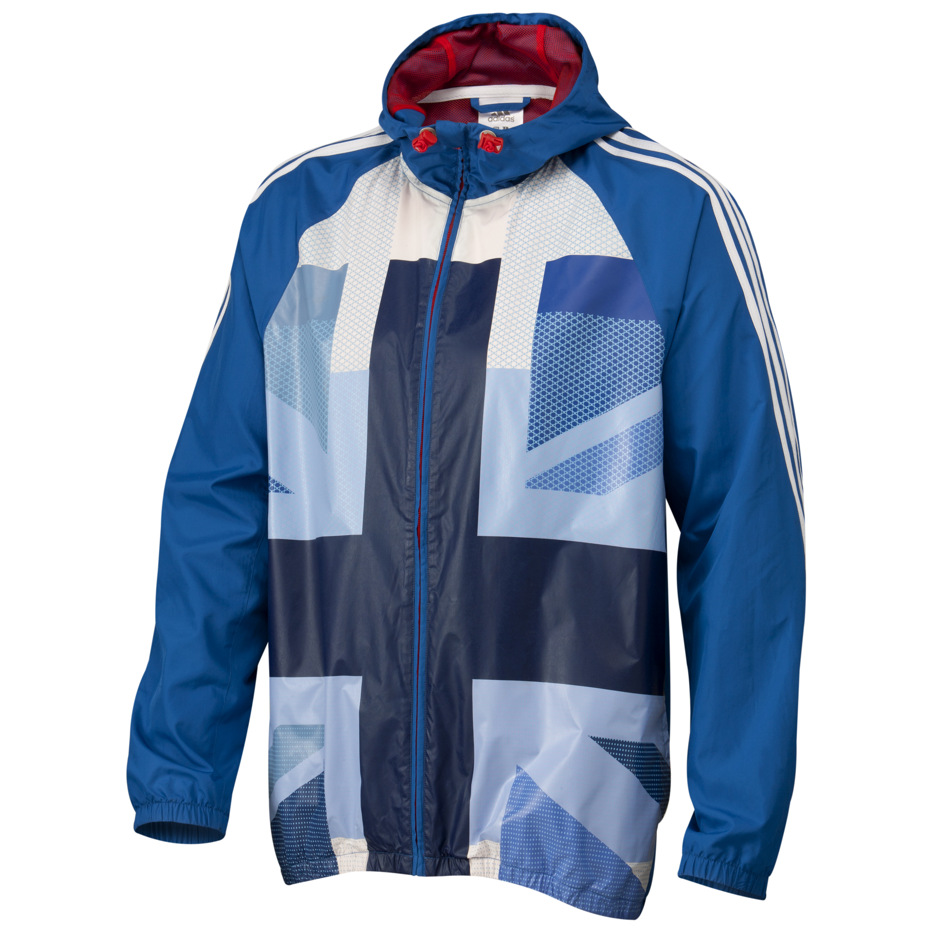 adidas Team GB Full Zip Windbreaker - Victory Blue S07/White