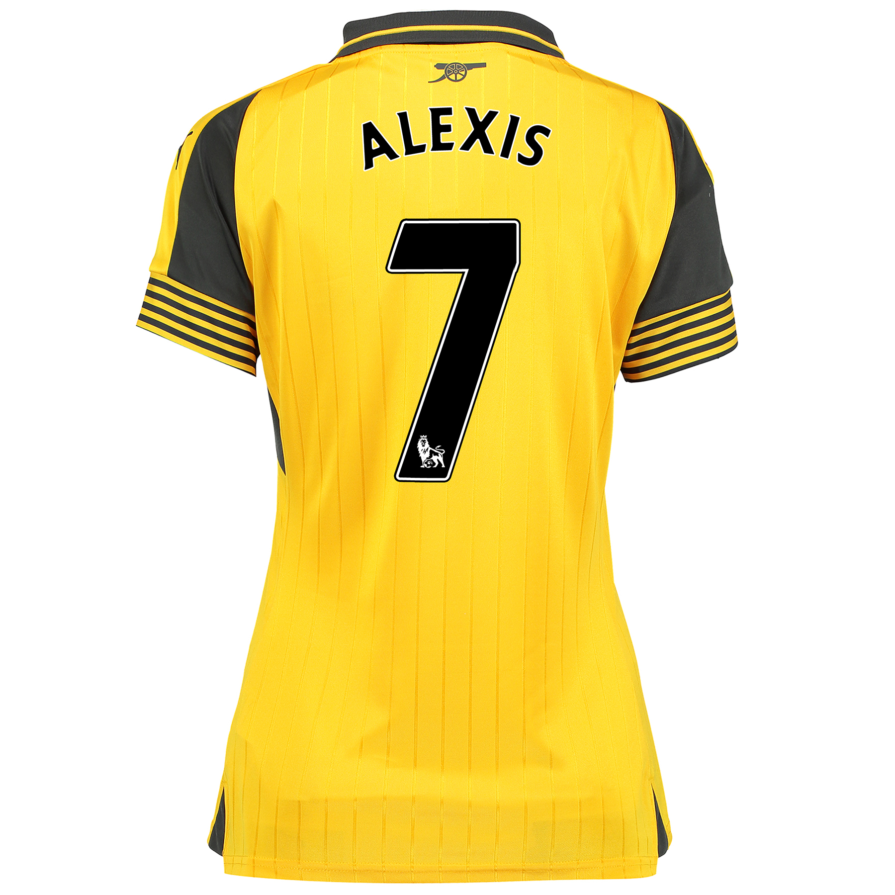 Image of Arsenal Away Shirt 2016-17 - Womens with Alexis 7 printing, Yellow