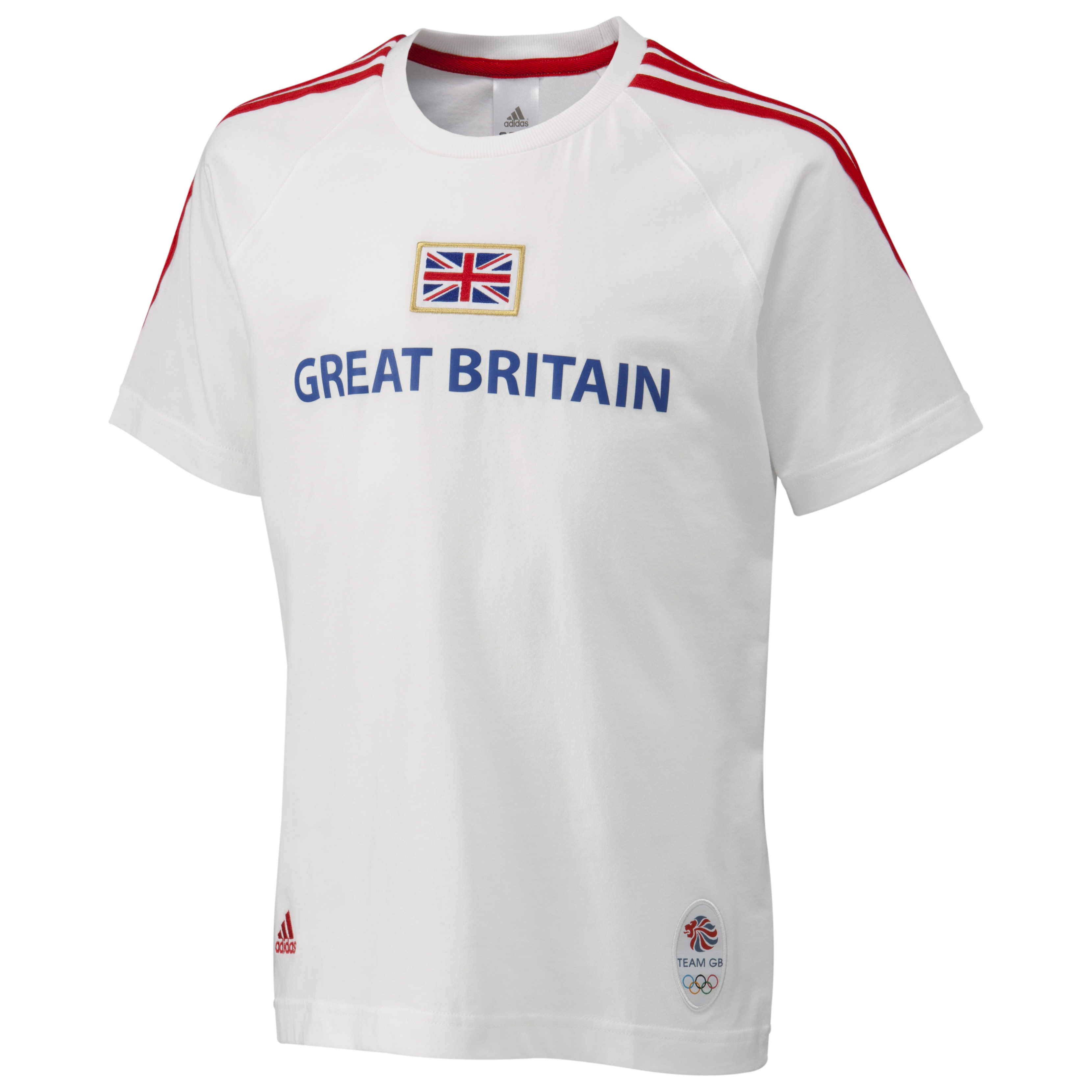 adidas Team GB T-Shirt - White/Victory Blue S07/Vivid Red F04 - Kids