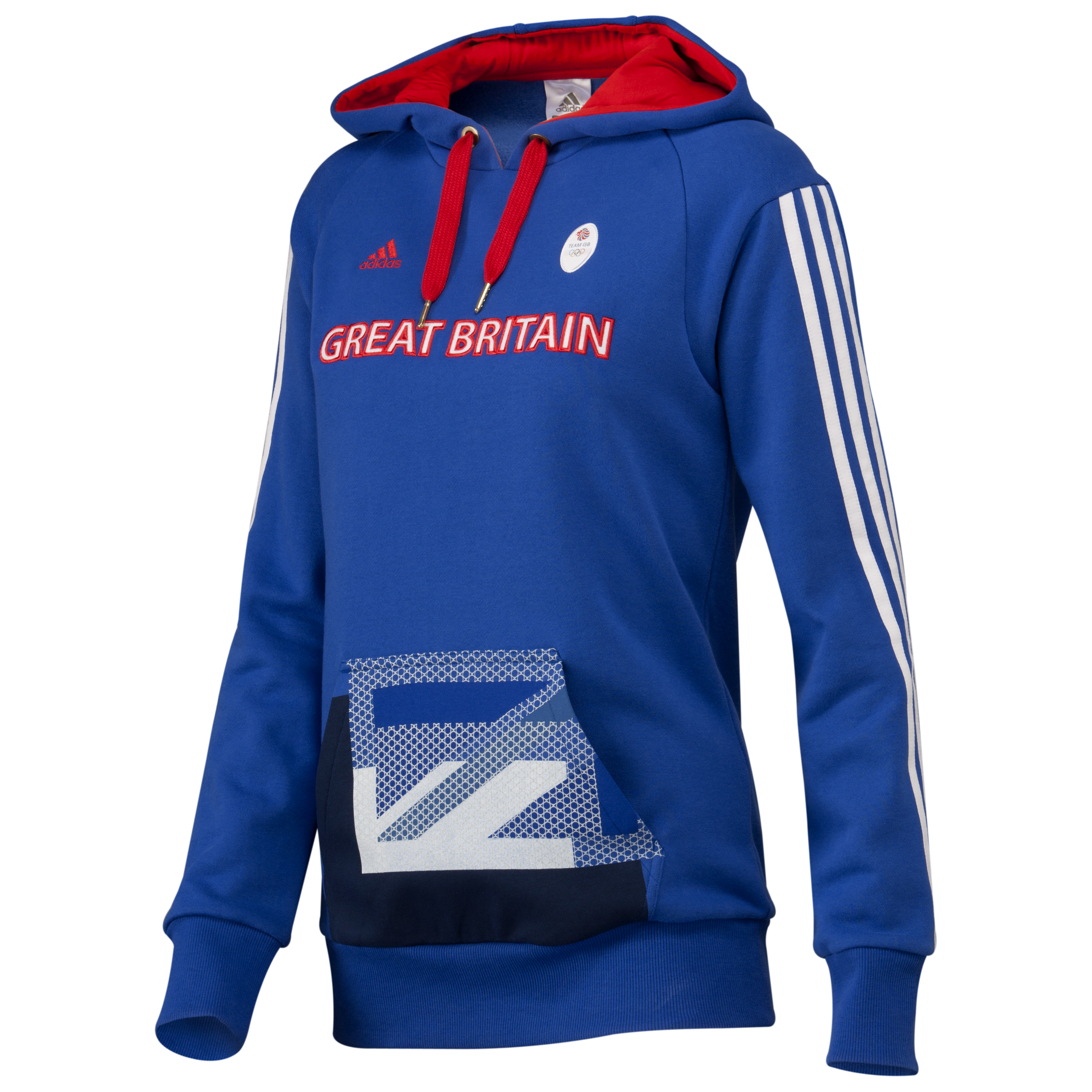 adidas Team GB Hoodie - Victory Blue S07/White/Vivid Red F04 - Youths
