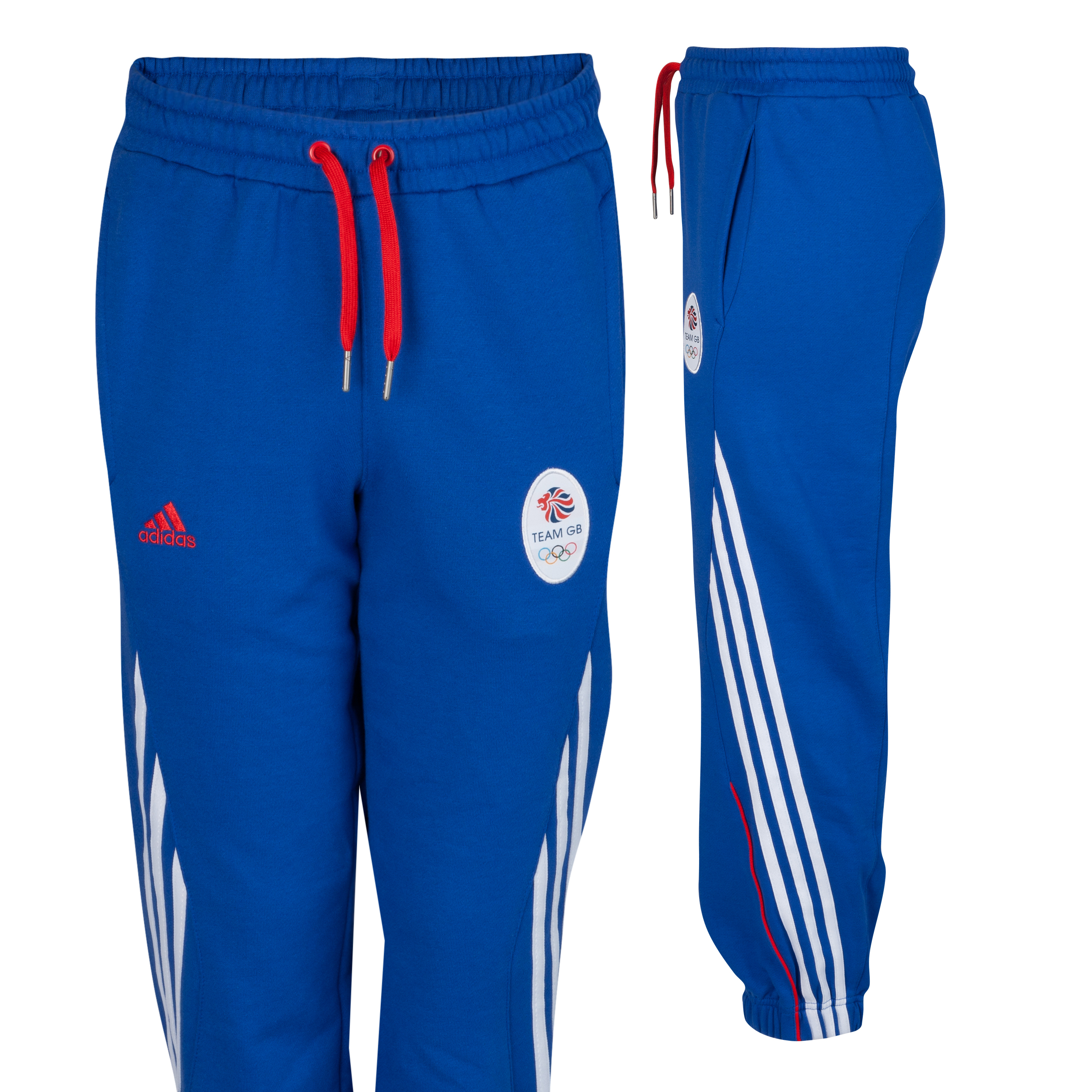 adidas Team GB Knit Pant - Victory Blue S07/White/Vivid Red F04 - Youths