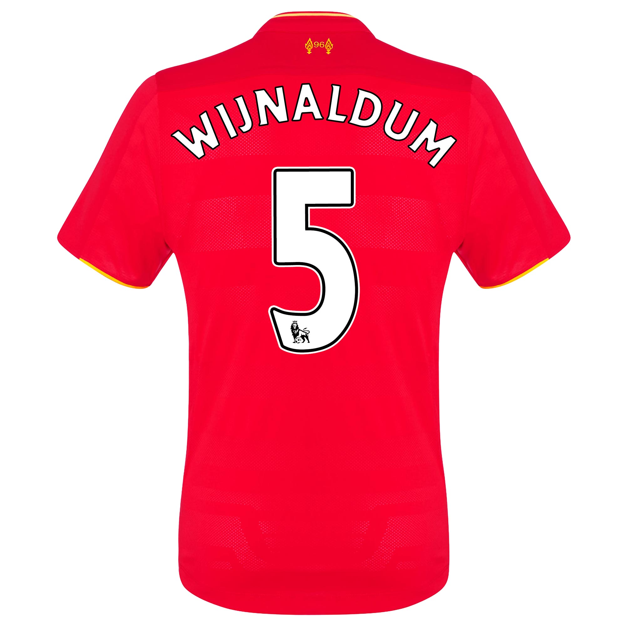 Image of Liverpool Home Elite Shirt 2016-17 with Wijnaldum 5 printing, Red