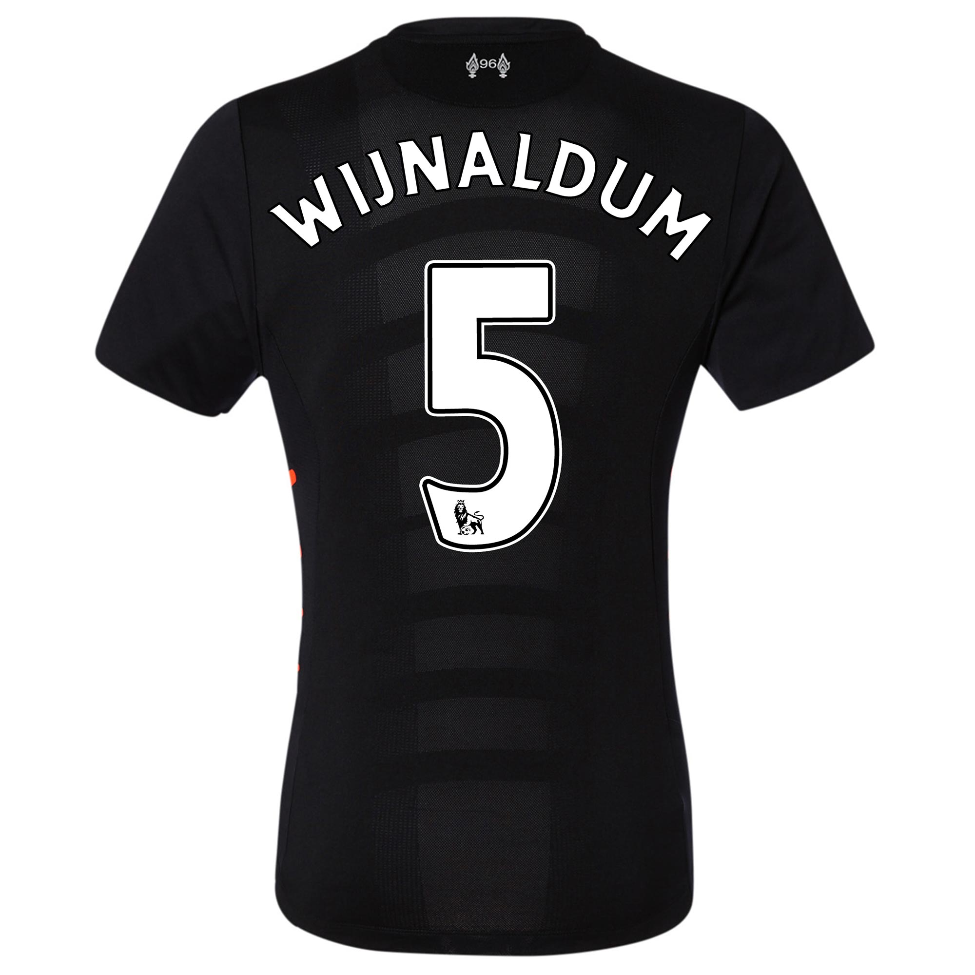Image of Liverpool Away Elite Shirt 2016-17 with Wijnaldum 5 printing, Black