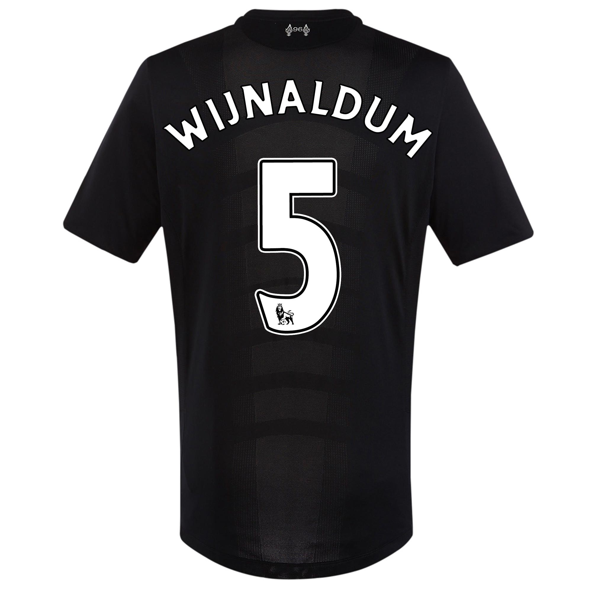 Image of Liverpool Away Shirt 2016-17 - Kids with Wijnaldum 5 printing, Black