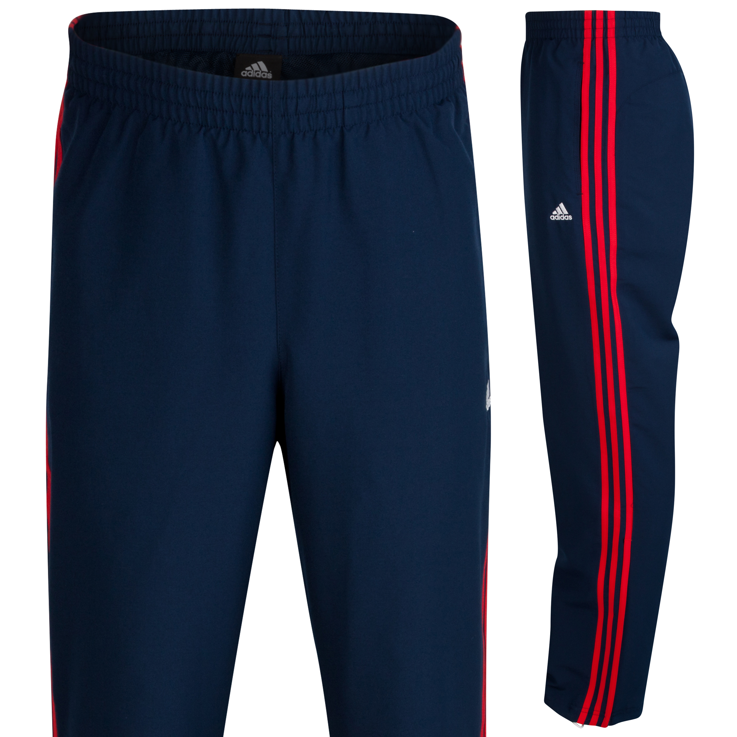 adidas Essentials 3 Stripe Woven Open Hem Pant - Collegiate Navy/Red S09