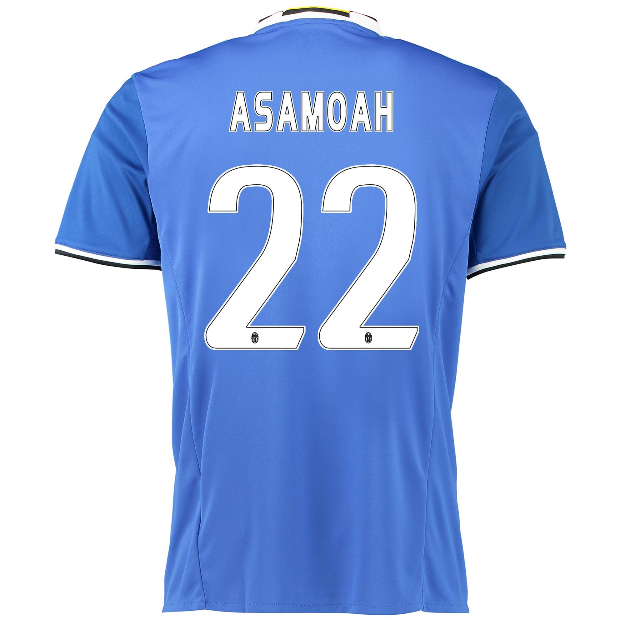 Image of Juventus Away Shirt 2016-17 with Asamoah 22 printing, Blue