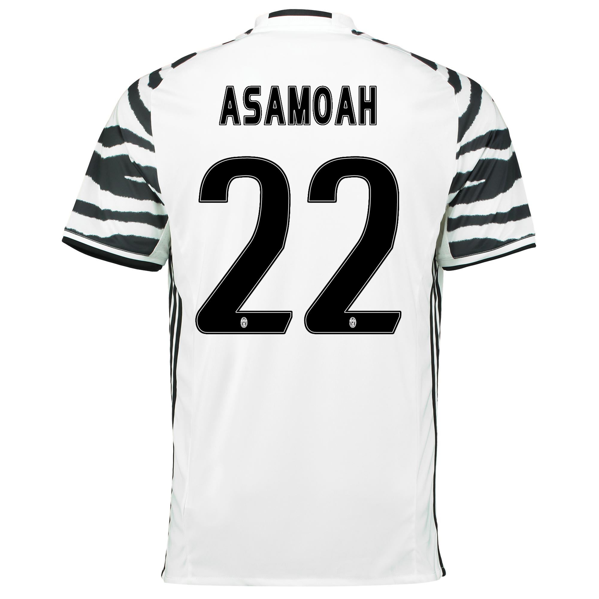 Image of Juventus Third Shirt 2016-17 with Asamoah 22 printing, White