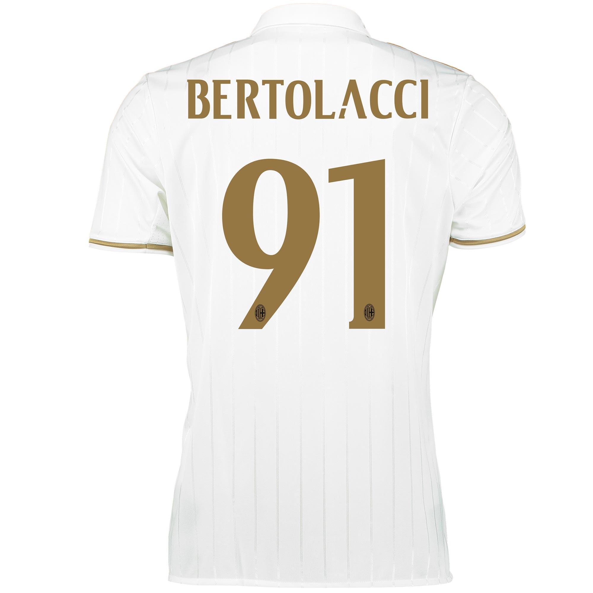 Image of AC Milan Away Shirt 2016-17 with Bertolacci 91 printing, White