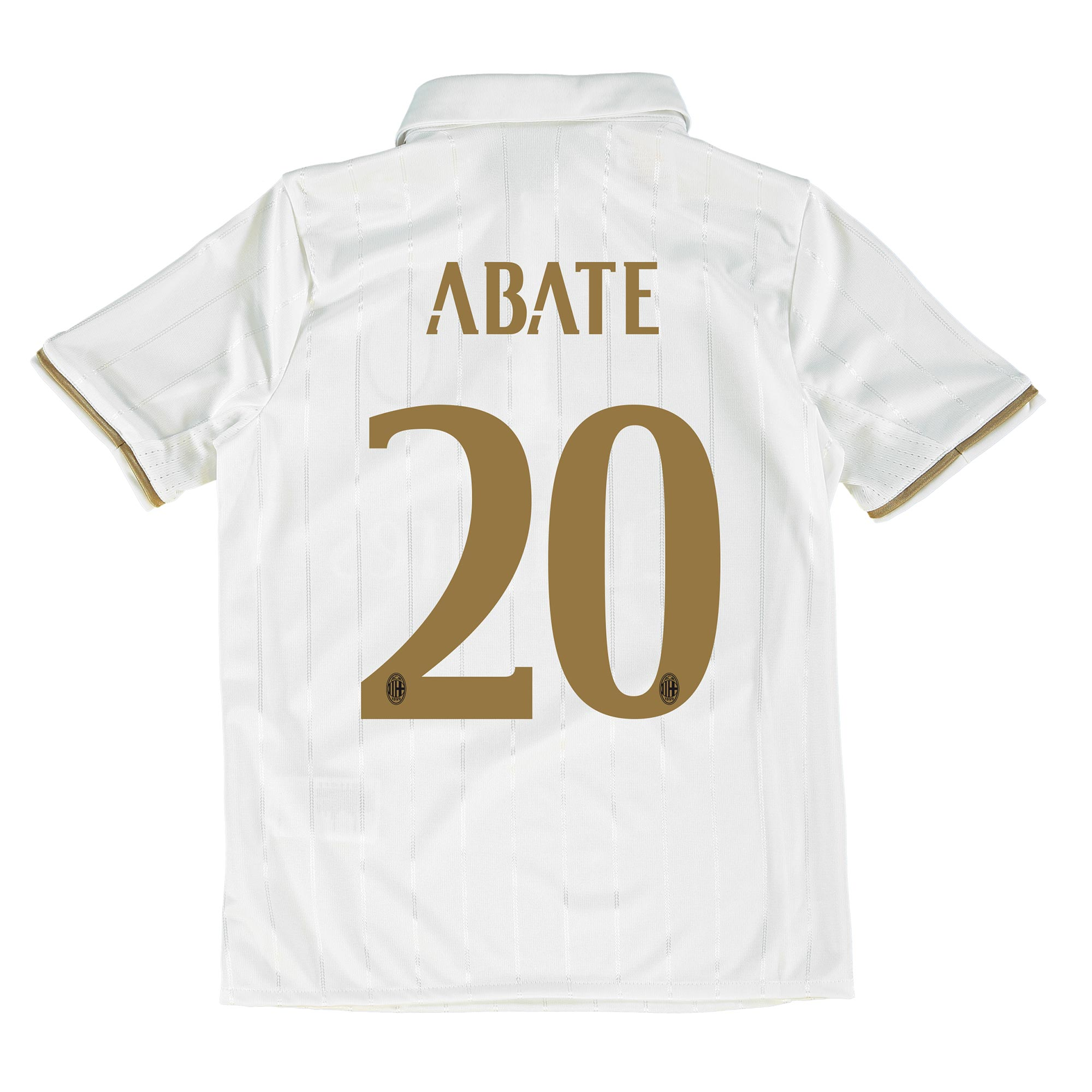 Image of AC Milan Away Shirt 2016-17 - Kids with Abate 20 printing, White