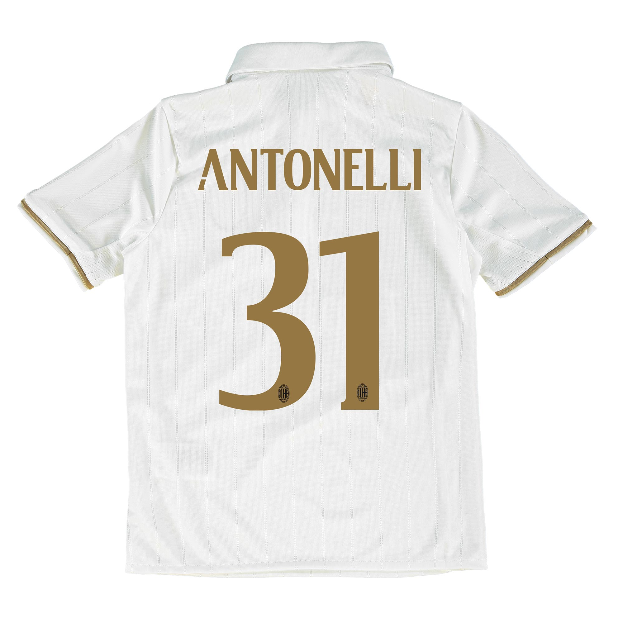 Image of AC Milan Away Shirt 2016-17 - Kids with Antonelli 31 printing, White