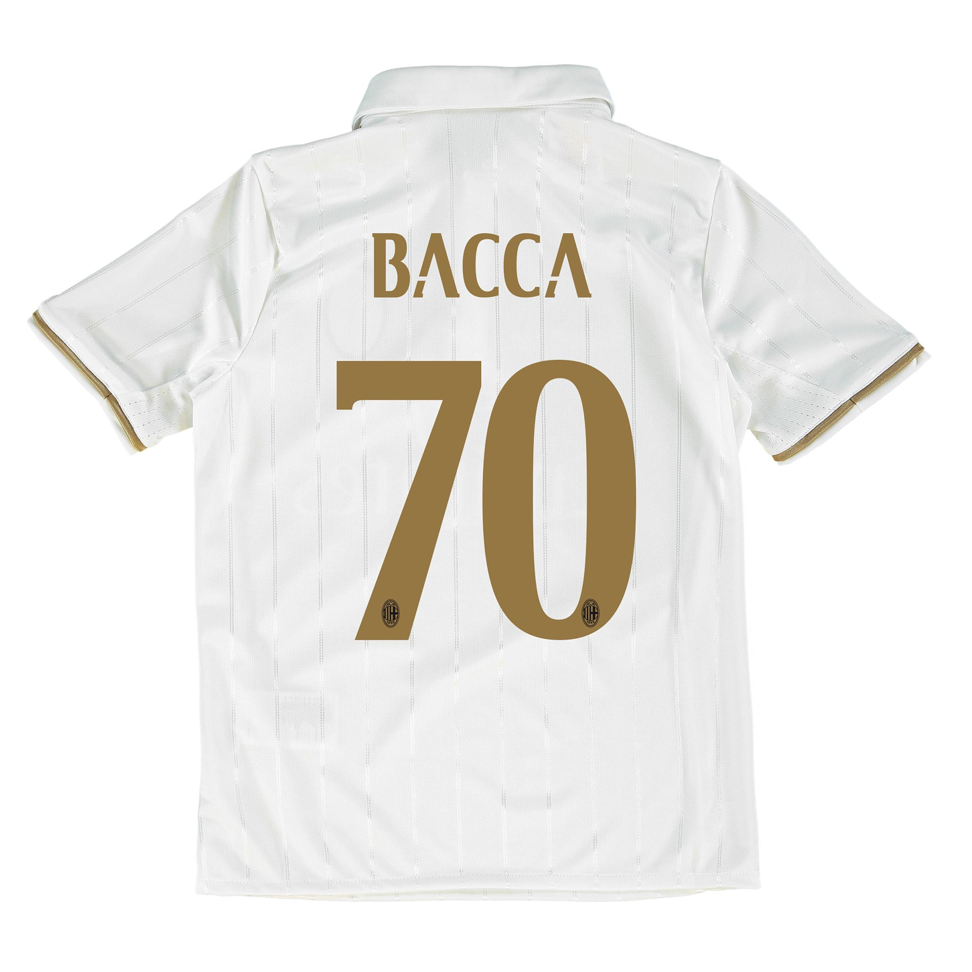 Image of AC Milan Away Shirt 2016-17 - Kids with Bacca 70 printing, White