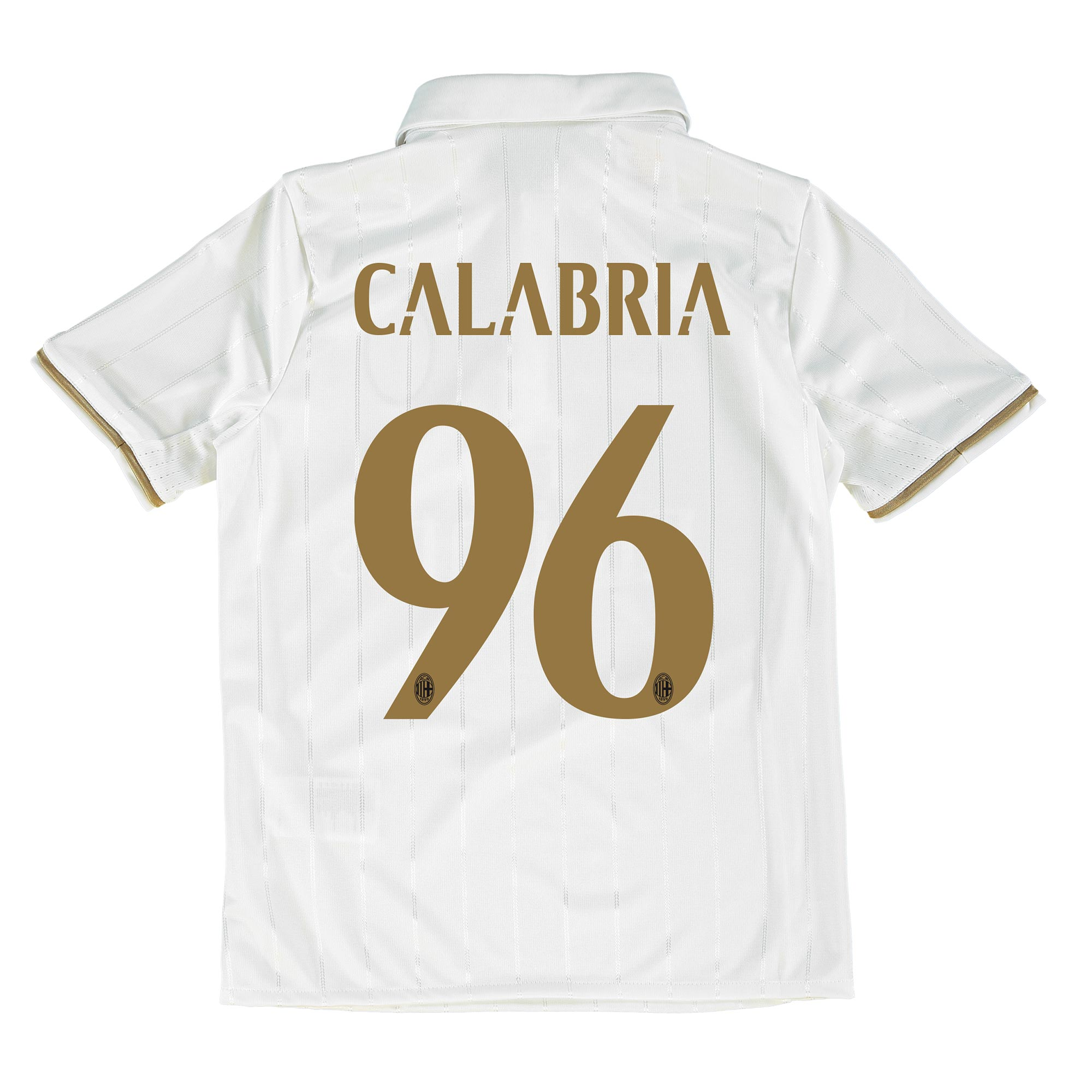 Image of AC Milan Away Shirt 2016-17 - Kids with Calabria 96 printing, White