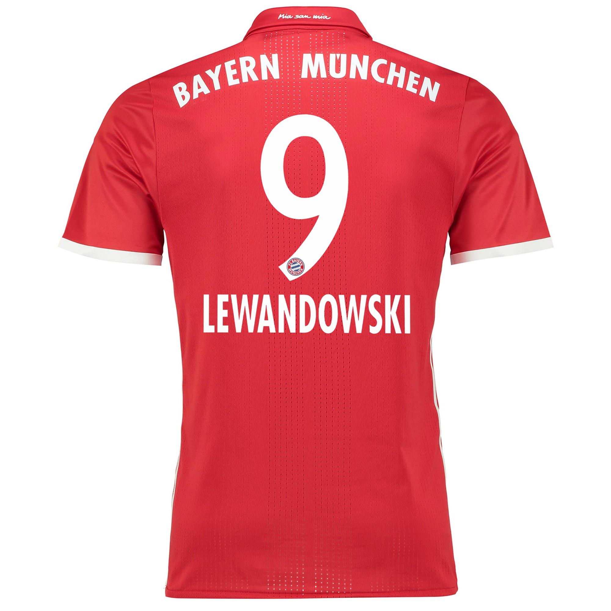 Image of Bayern Munich Home Adi Zero Shirt 2016-17 with Lewandowski 9 printing, Red