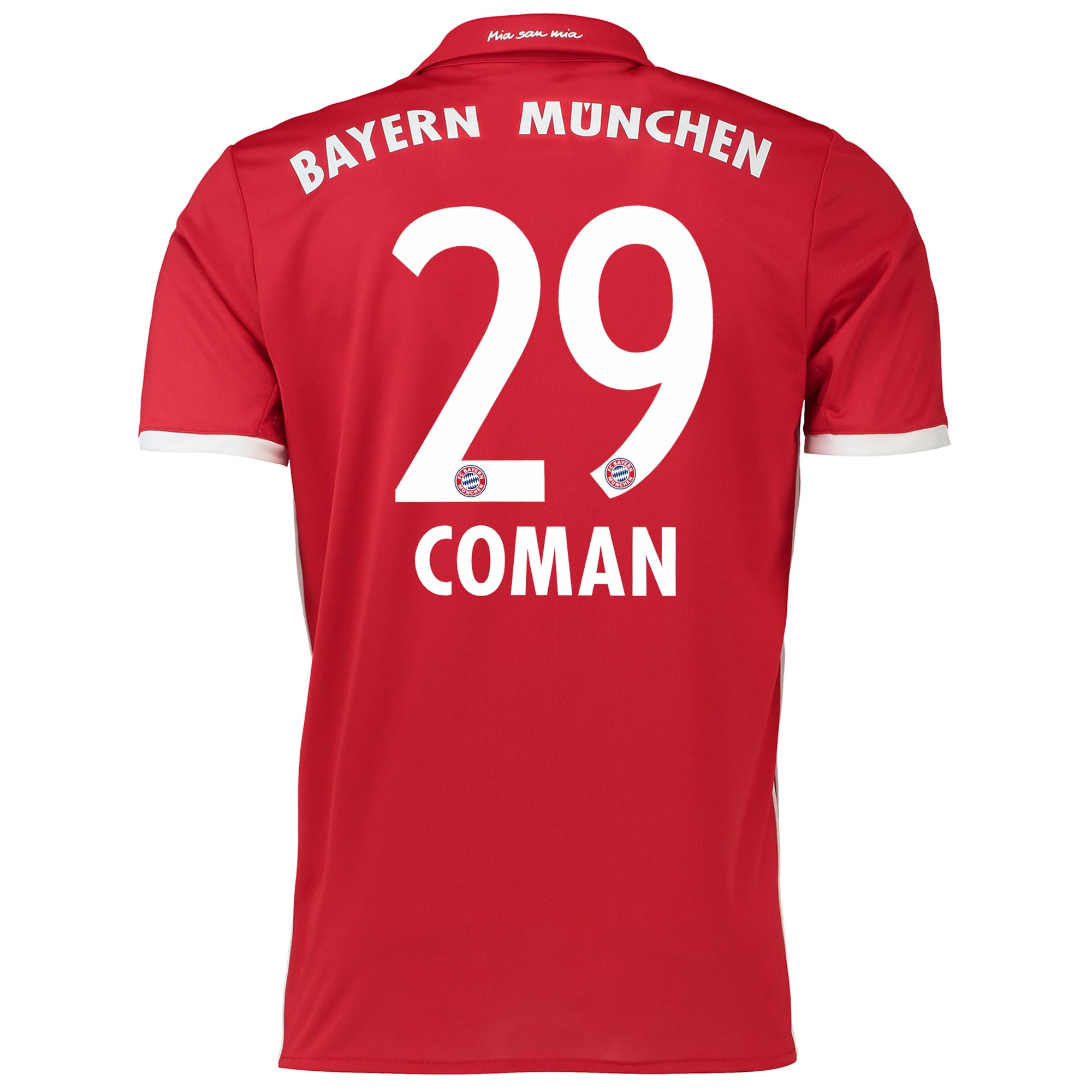 Image of Bayern Munich Home Shirt 2016-17 with Coman 29 printing, Red