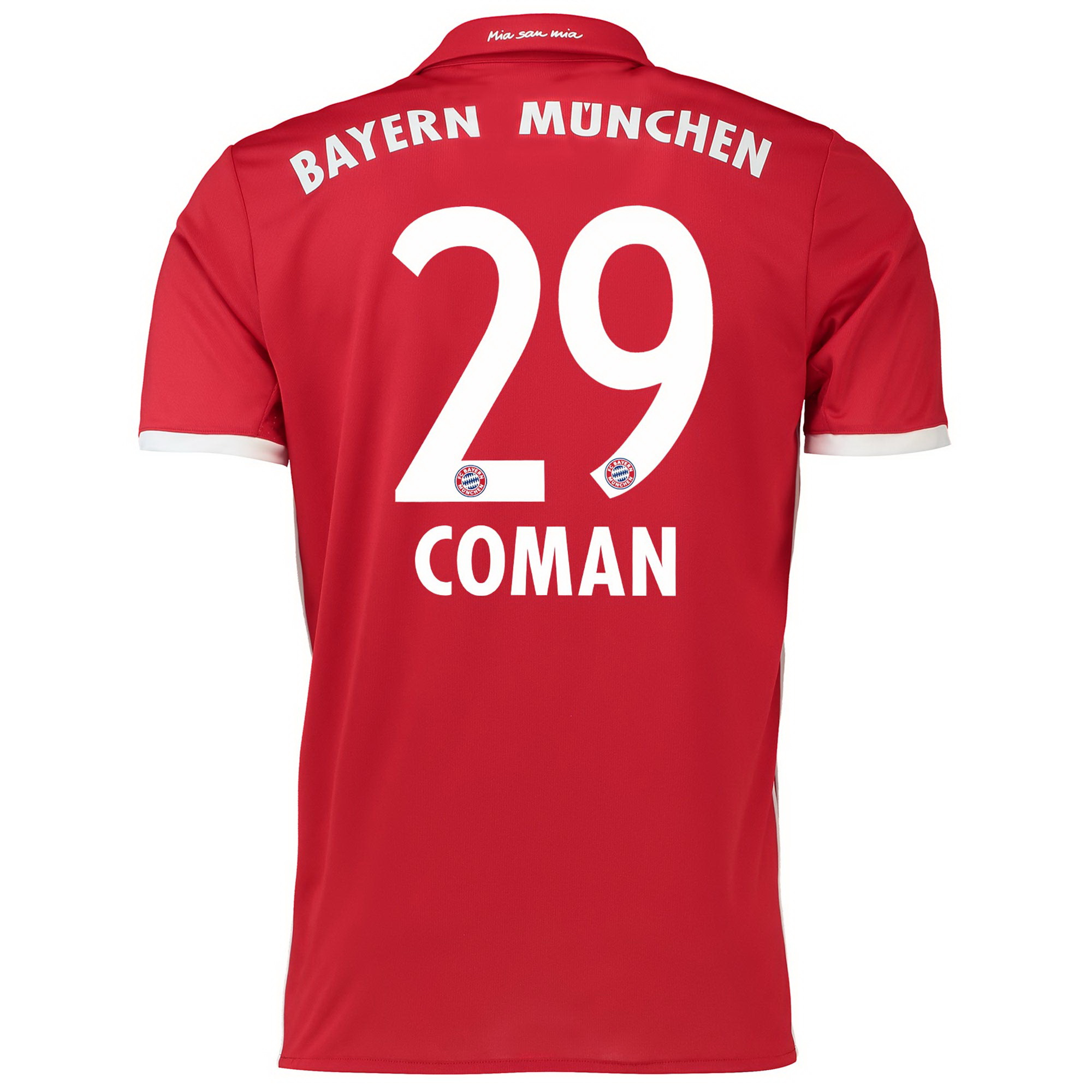 Image of Bayern Munich Home Shirt 2016-17 - Kids with Coman 29 printing, Red