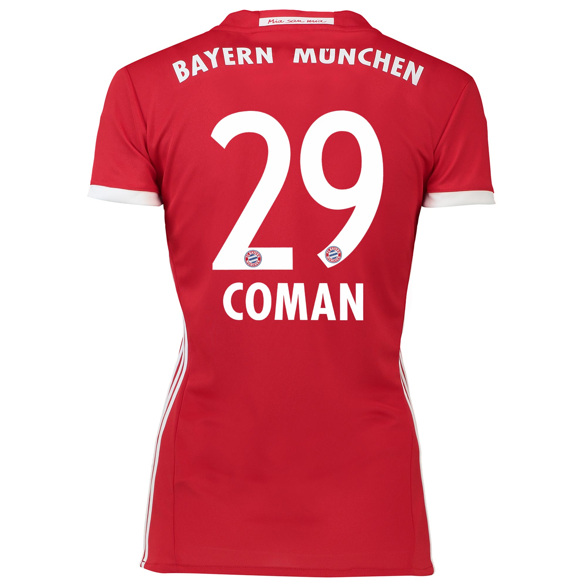 Image of Bayern Munich Home Shirt 2016-17 - Womens with Coman 29 printing, Red