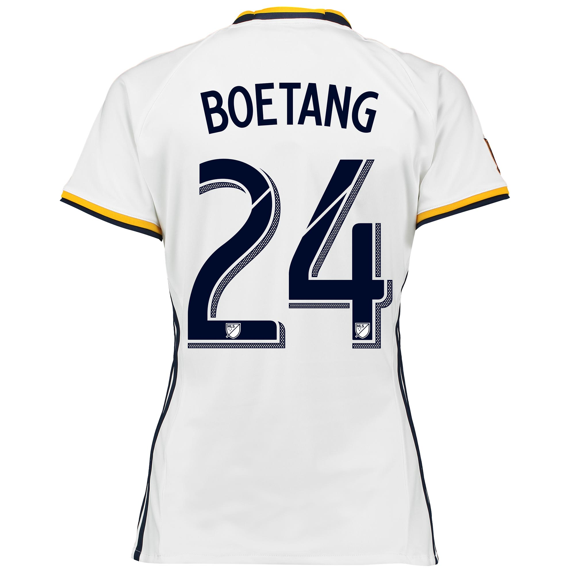 Image of LA Galaxy Home Shirt 2016 - Womens with Boetang 24 printing, White