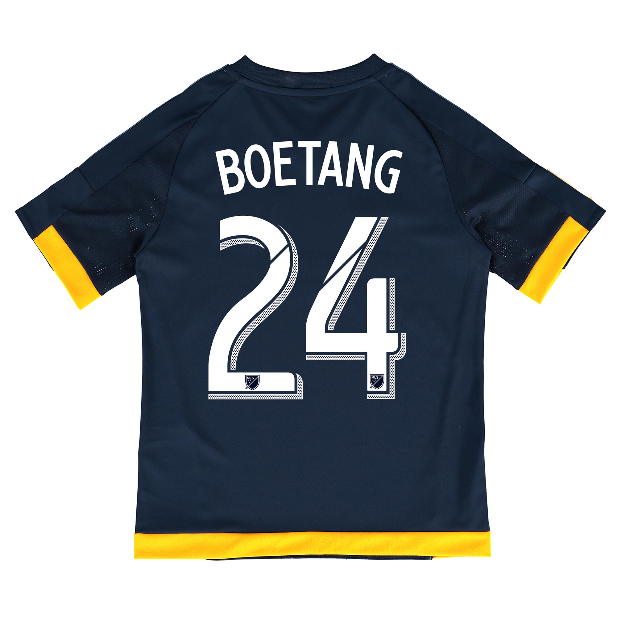 Image of LA Galaxy Away Shirt 2015-16 - Kids with Boetang 24 printing, Navy