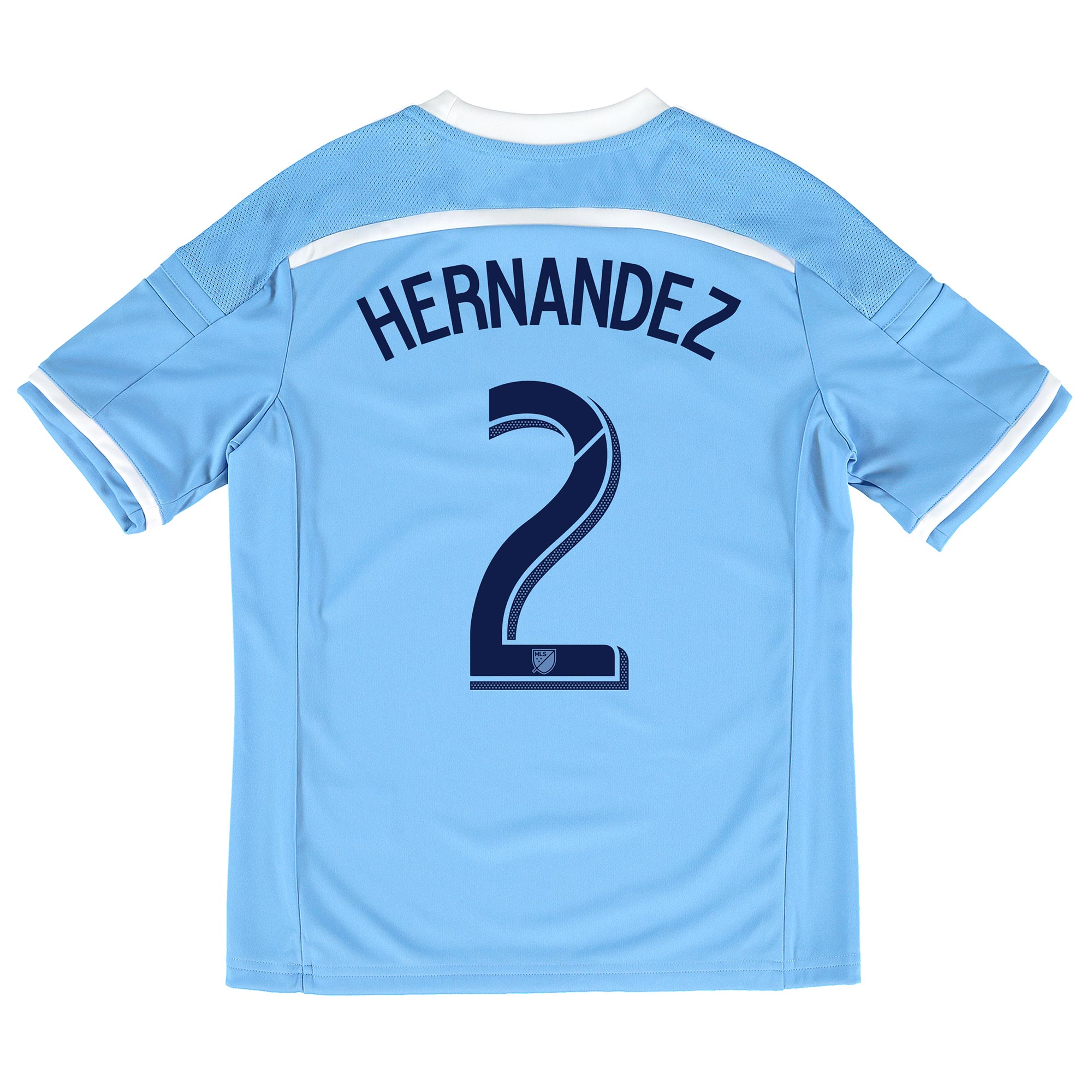 New York City FC Home Shirt 2015-16 - Kids with Hernandez 2 printing