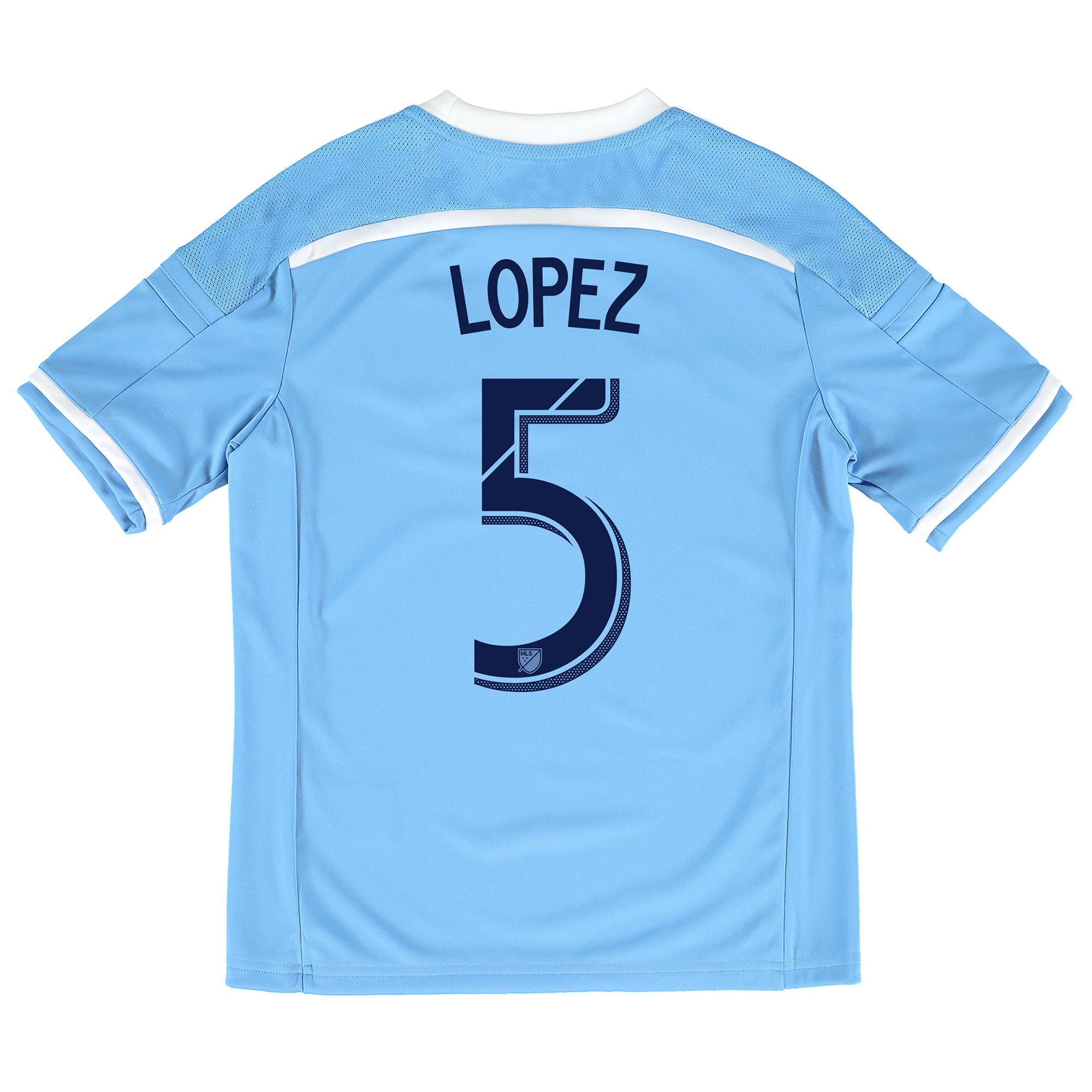 New York City FC Home Shirt 2015-16 - Kids with Lopez 5 printing