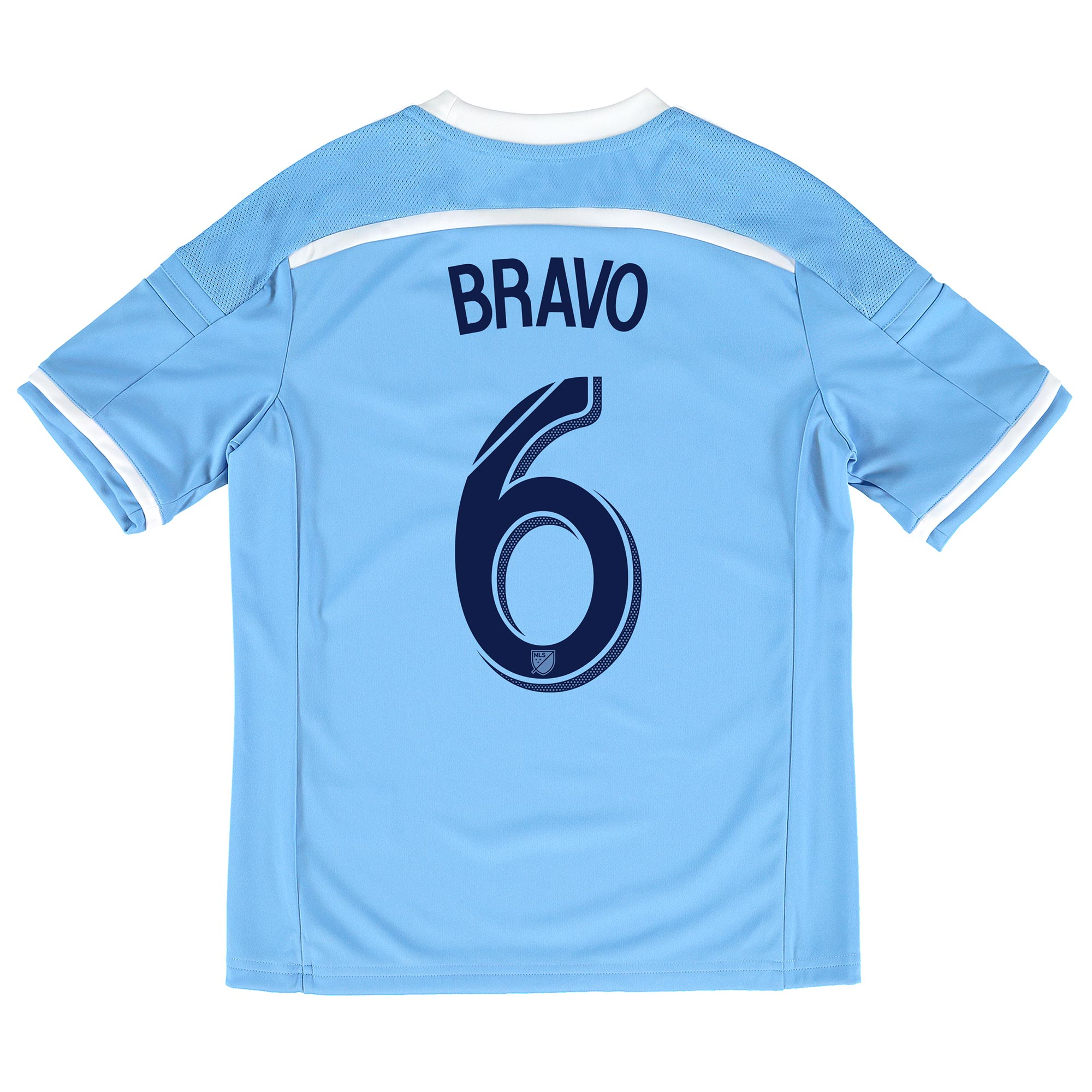 New York City FC Home Shirt 2015-16 - Kids with Bravo 6 printing