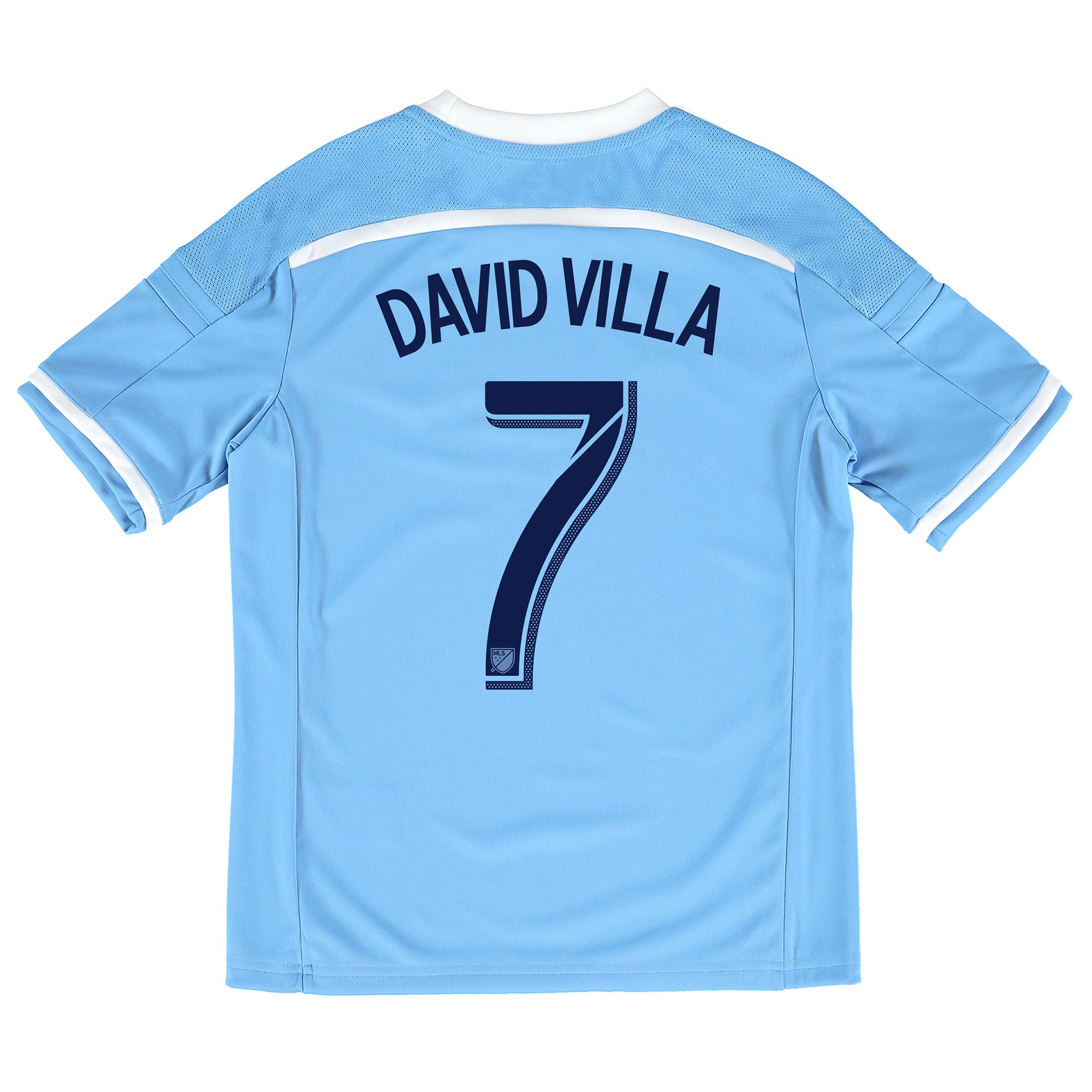 New York City FC Home Shirt 2015-16 - Kids with David Villa 7 printing