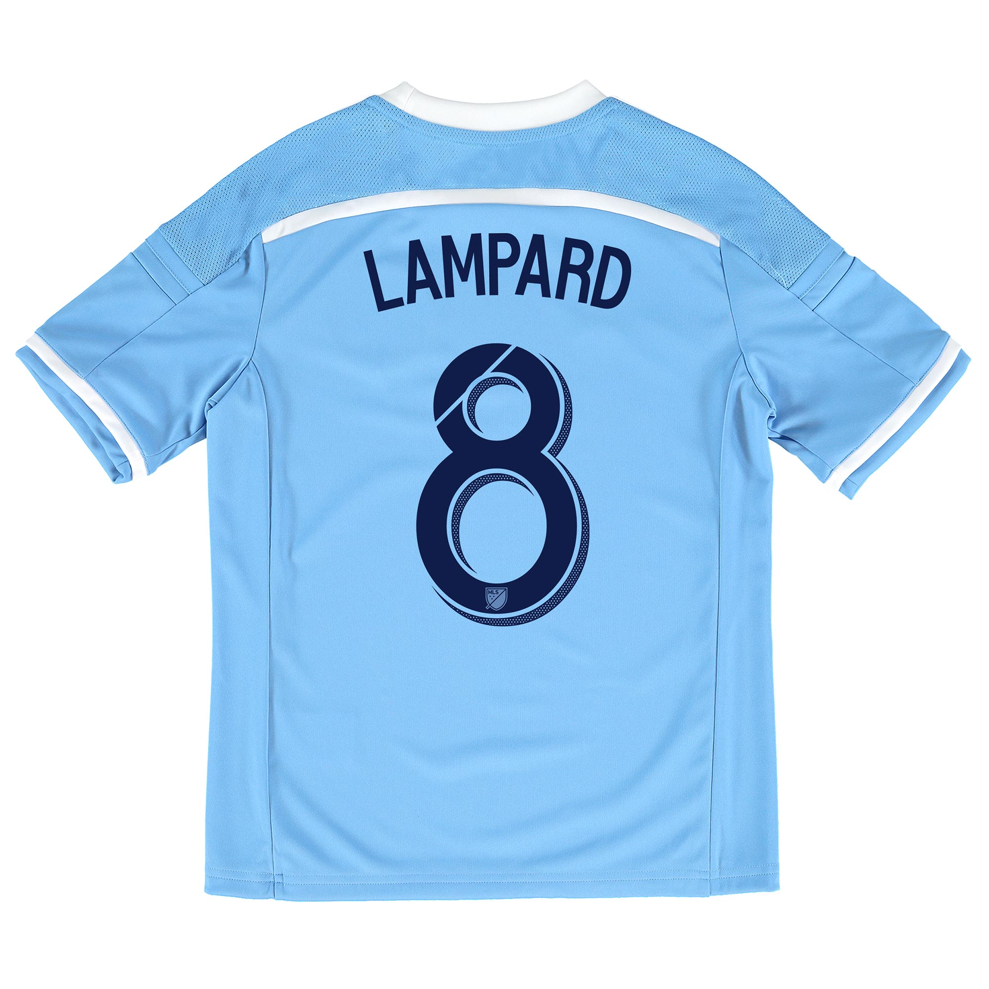 New York City FC Home Shirt 2015-16 - Kids with Lampard 8 printing