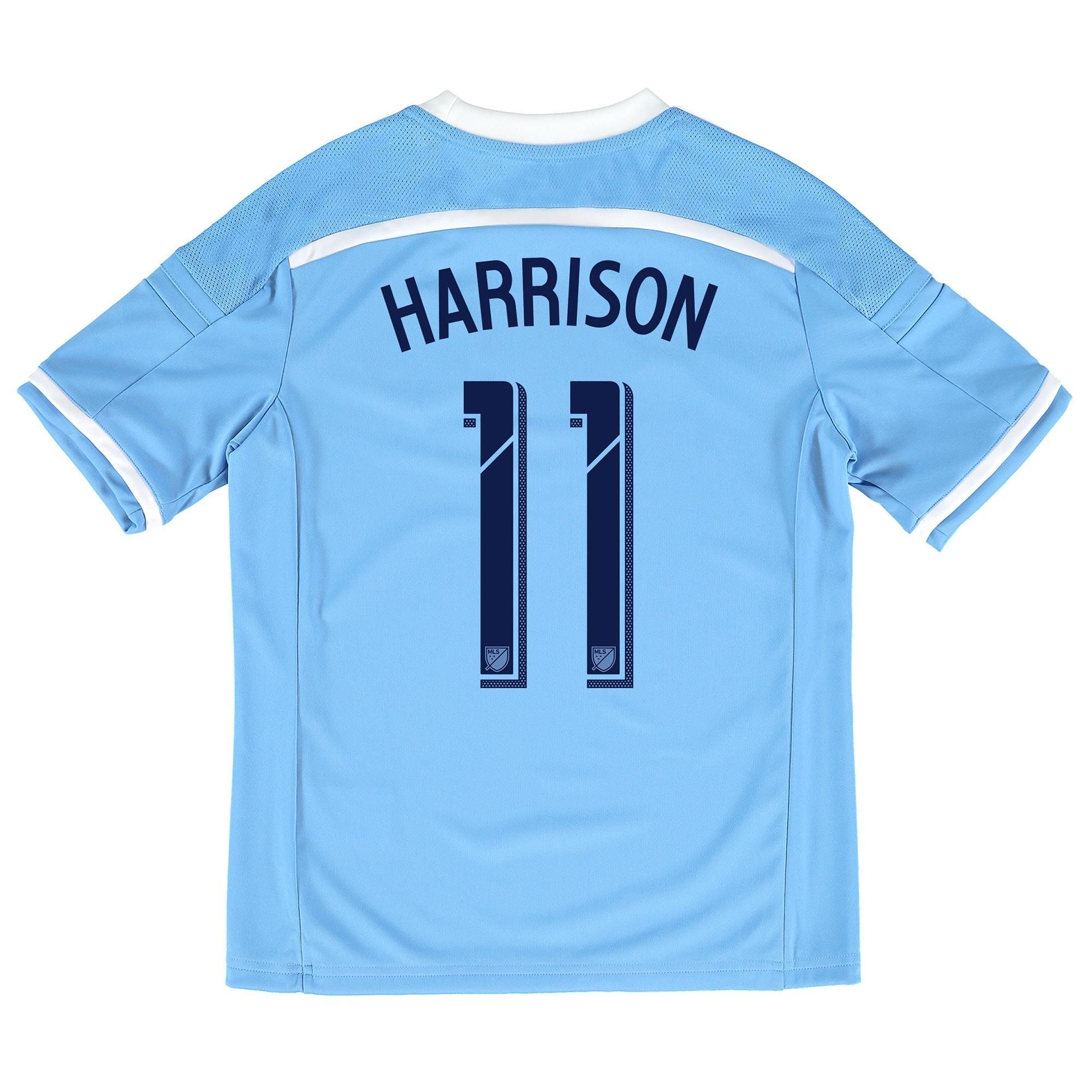 New York City FC Home Shirt 2015-16 - Kids with Harrison 11 printing