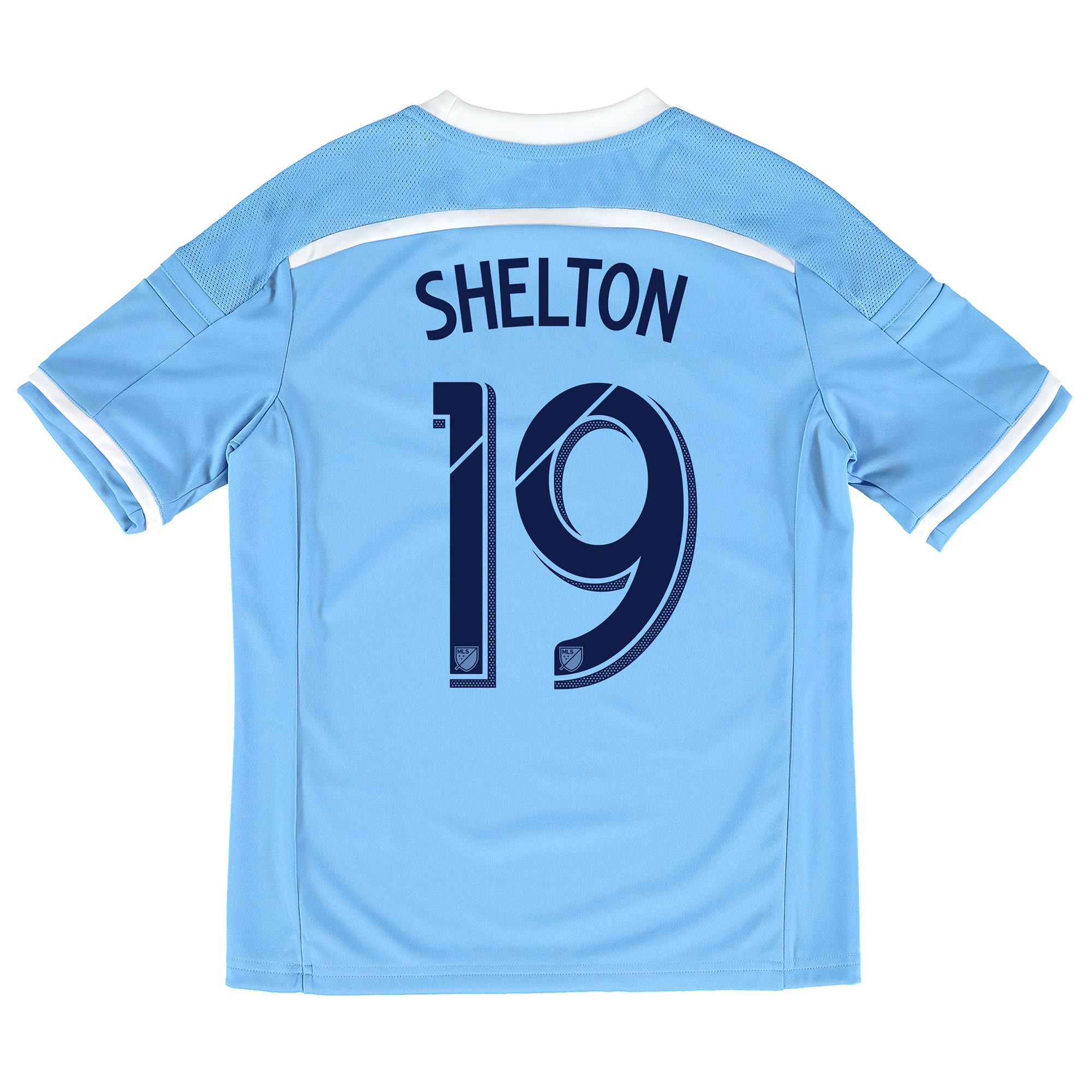 New York City FC Home Shirt 2015-16 - Kids with Khiry Shelton 19 print