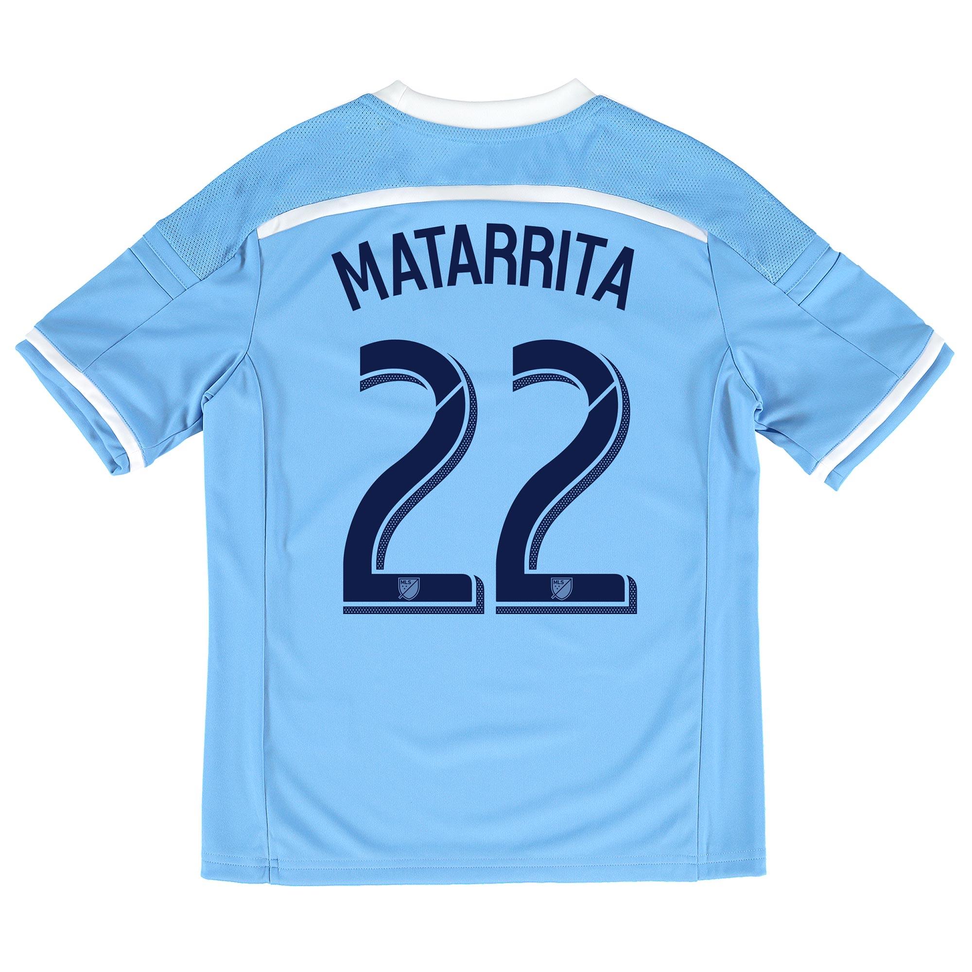 New York City FC Home Shirt 2015-16 - Kids with Matarrita 22 printing