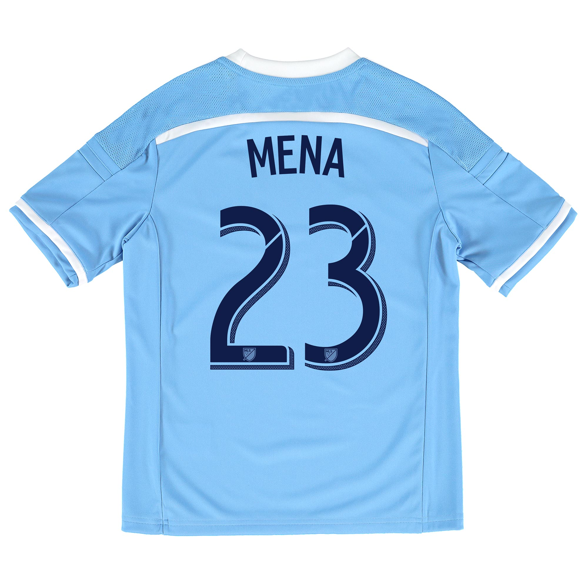 New York City FC Home Shirt 2015-16 - Kids with Mena 23 printing