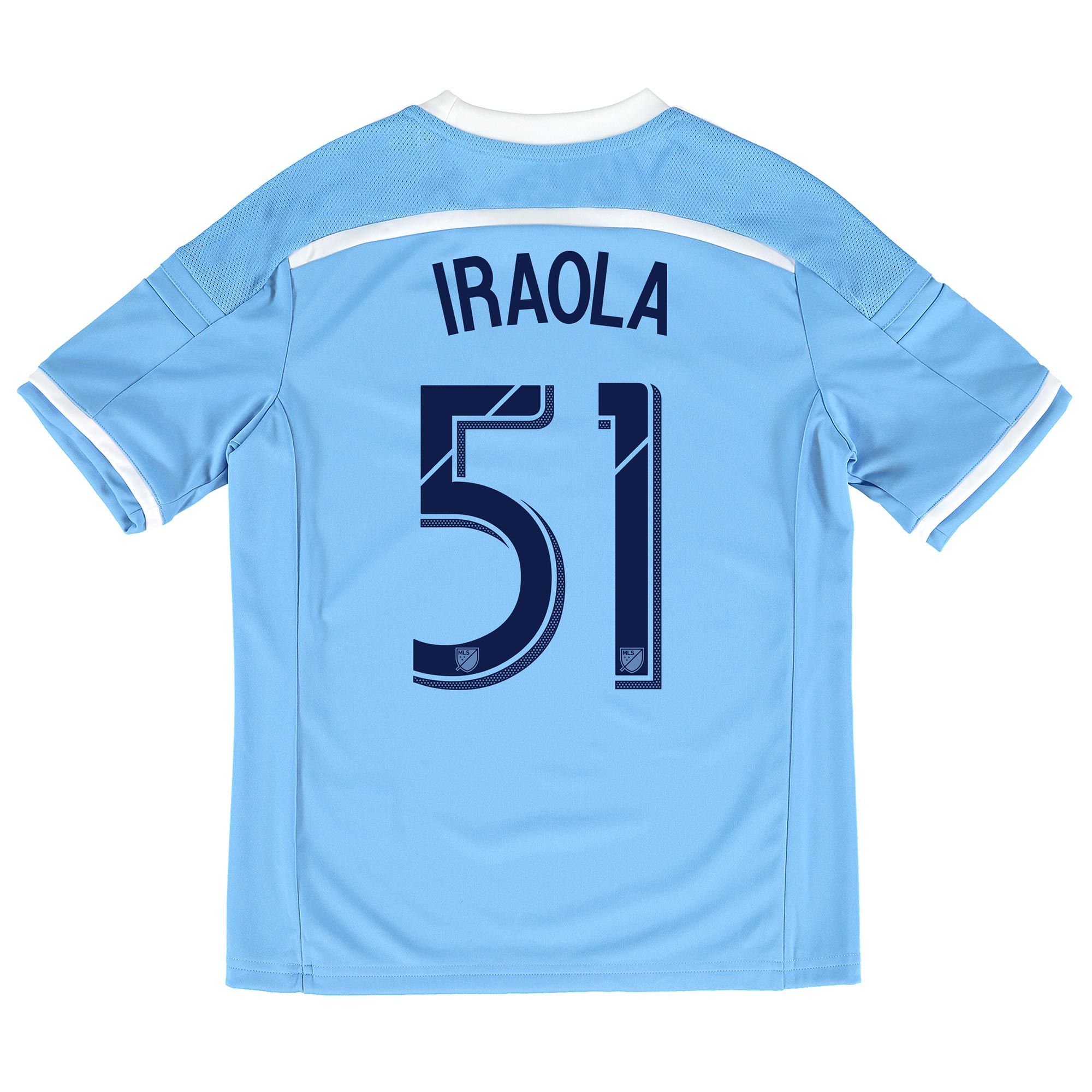New York City FC Home Shirt 2015-16 - Kids with Iraola 51 printing