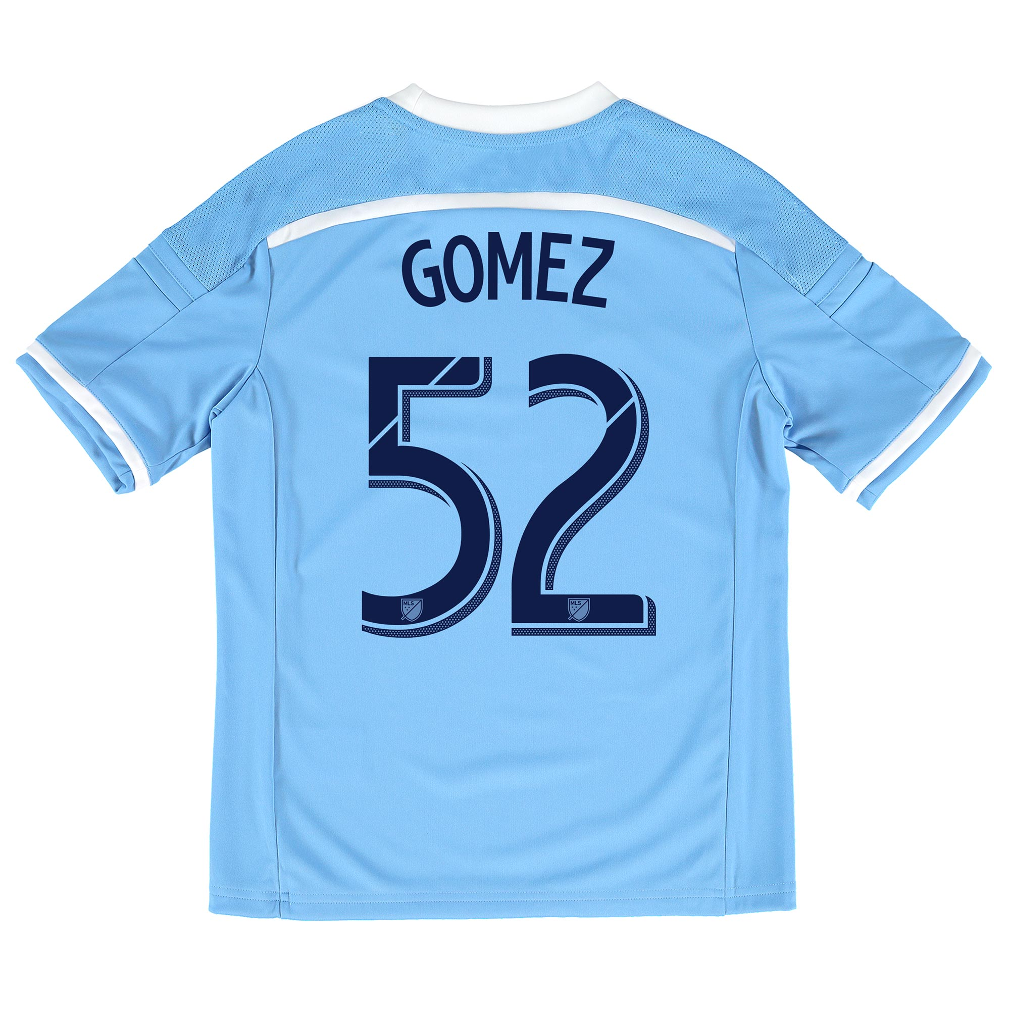 New York City FC Home Shirt 2015-16 - Kids with Gomez 52 printing