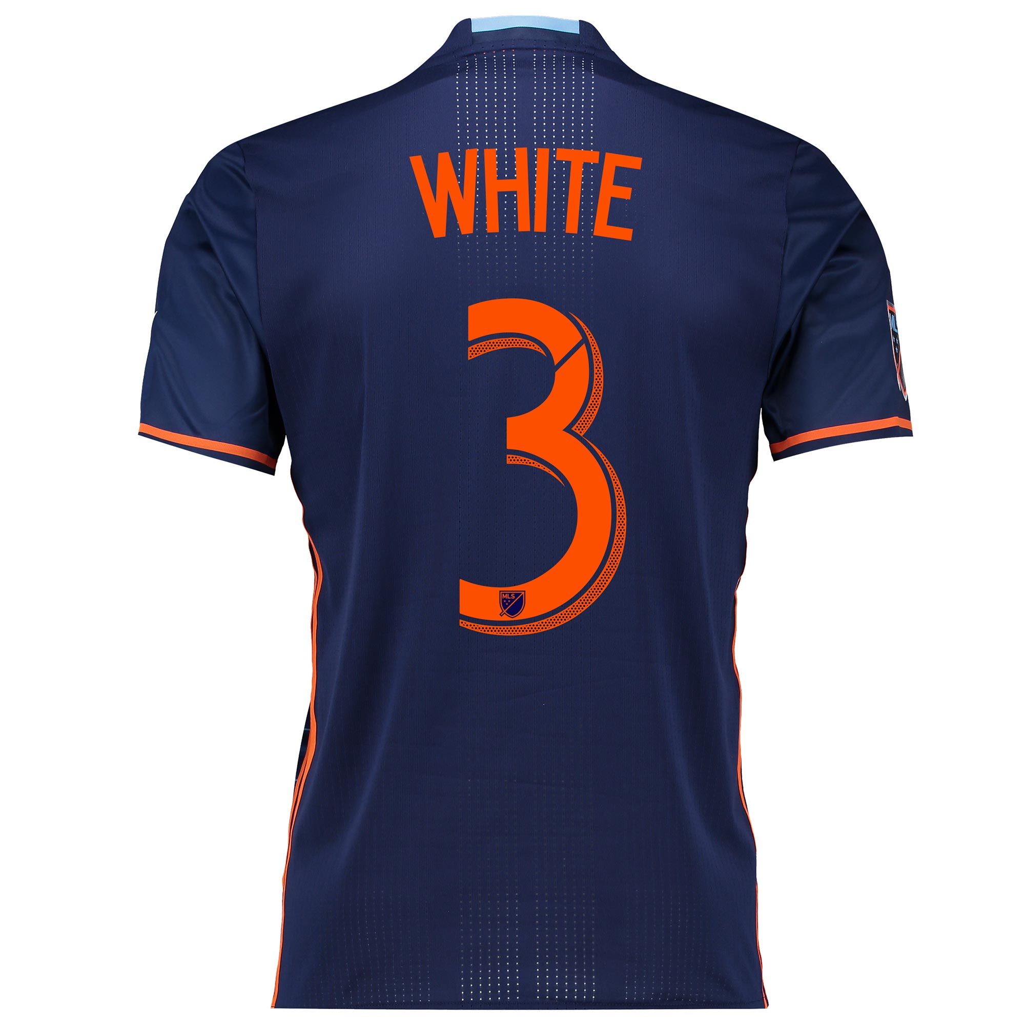 New York City FC Authentic Away Shirt 2016 with White 3 printing