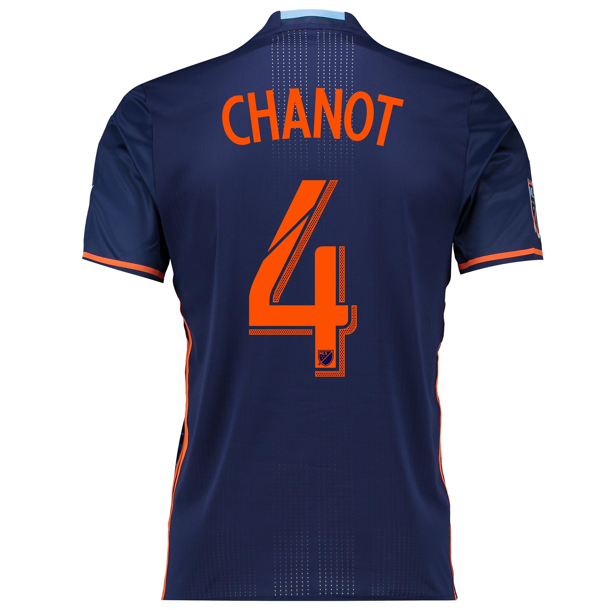 New York City FC Authentic Away Shirt 2016 with Chanot 4 printing