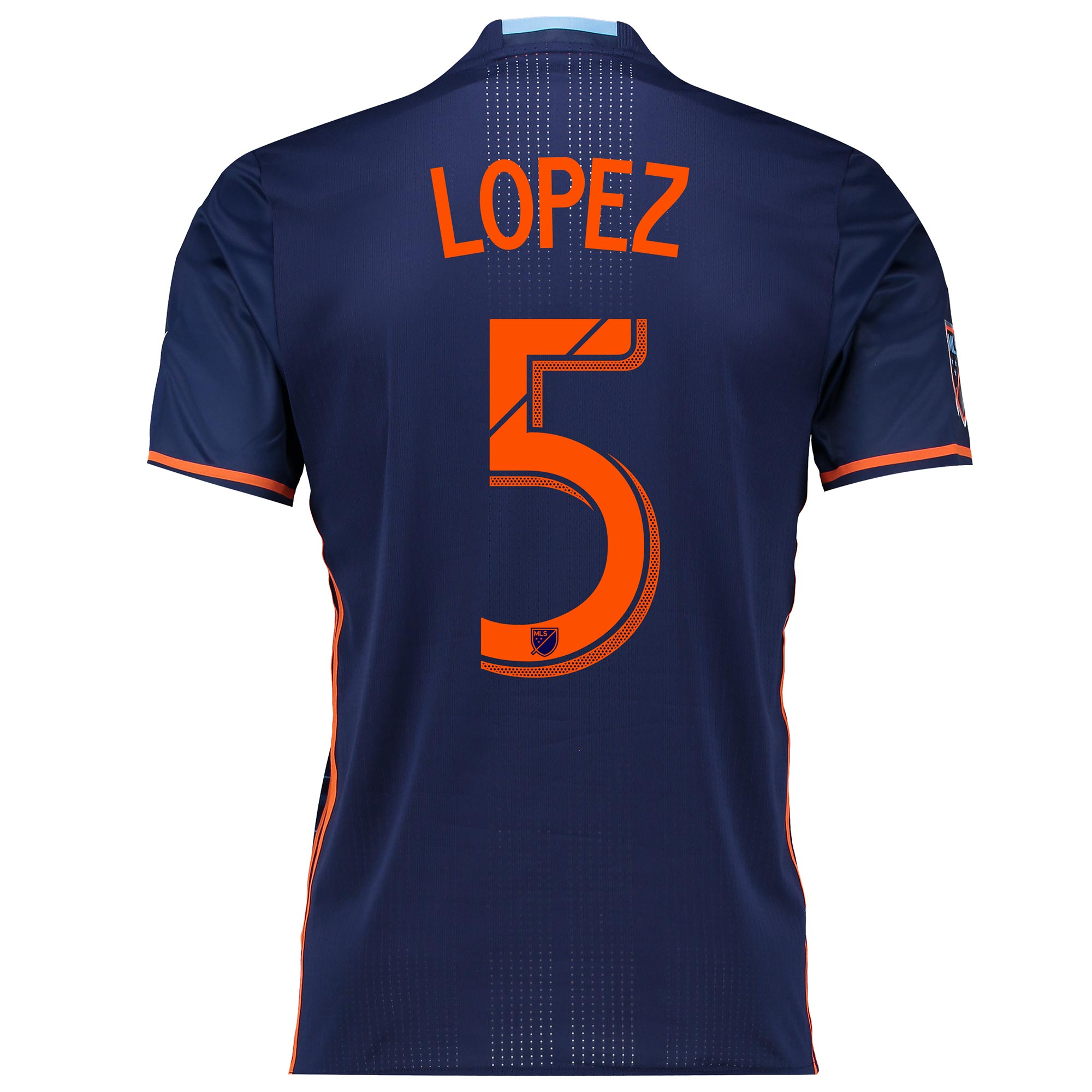 New York City FC Authentic Away Shirt 2016 with Lopez 5 printing