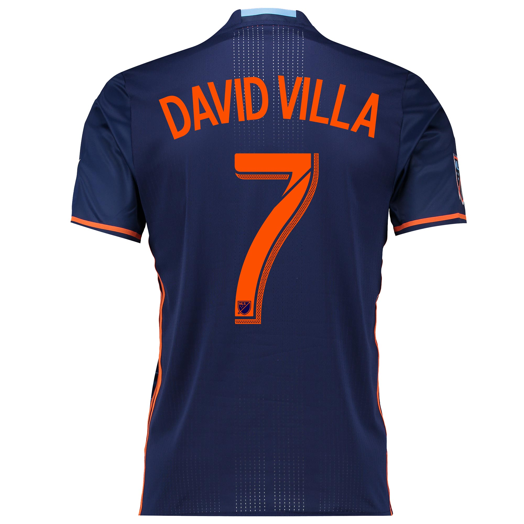 New York City FC Authentic Away Shirt 2016 with David Villa 7 printing