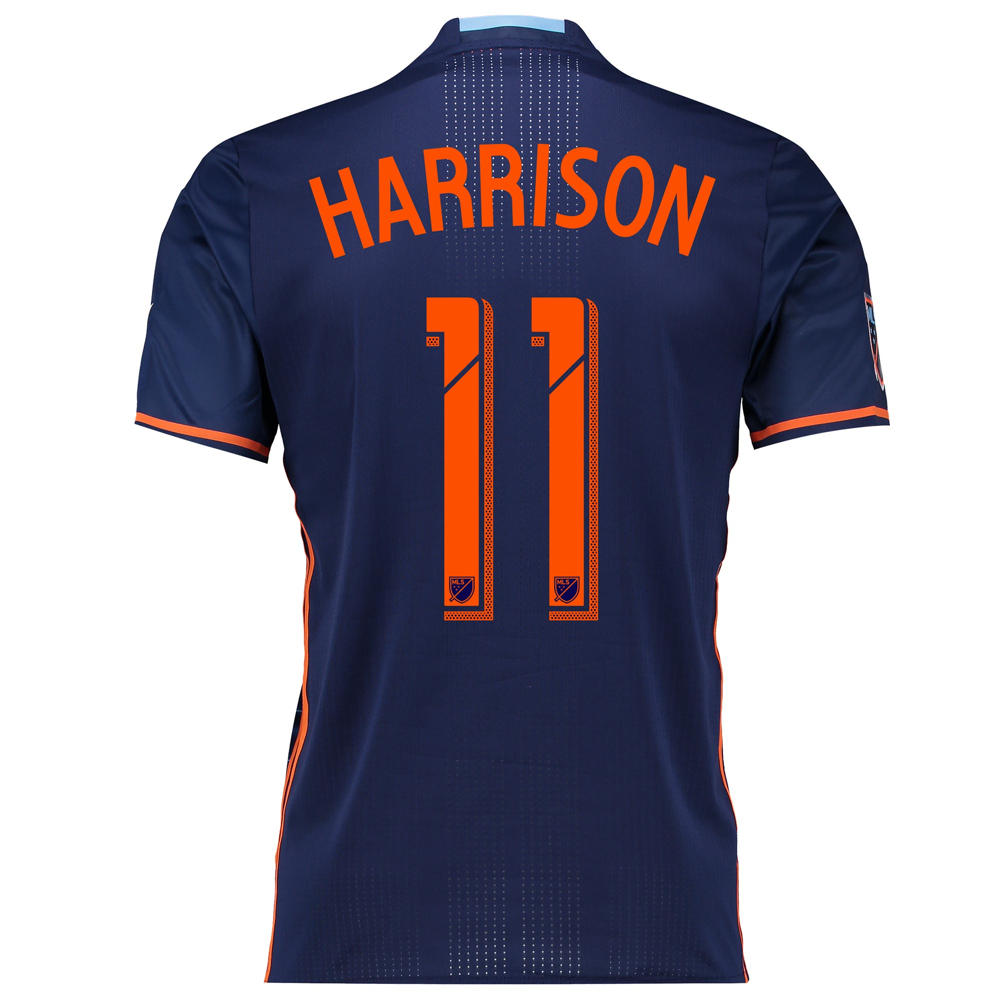 New York City FC Authentic Away Shirt 2016 with Harrison 11 printing