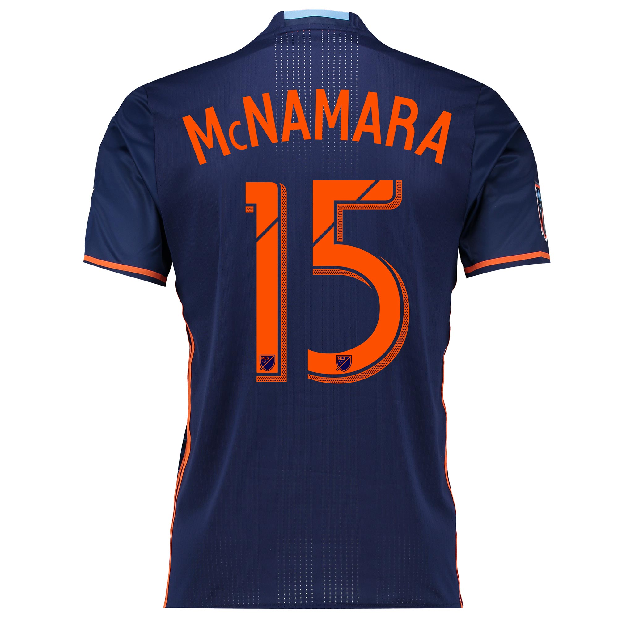 New York City FC Authentic Away Shirt 2016 with McNamara 15 printing
