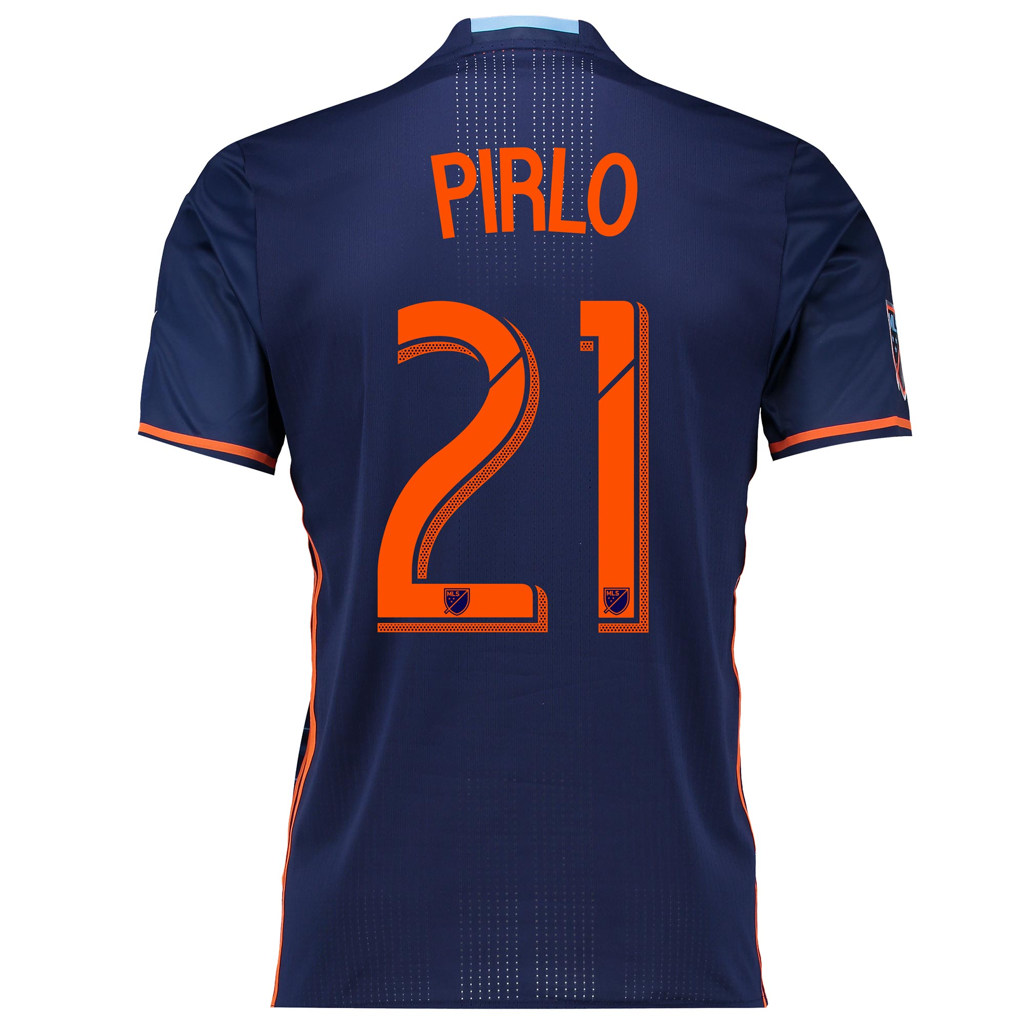 New York City FC Authentic Away Shirt 2016 with Andrea Pirlo 21 printi