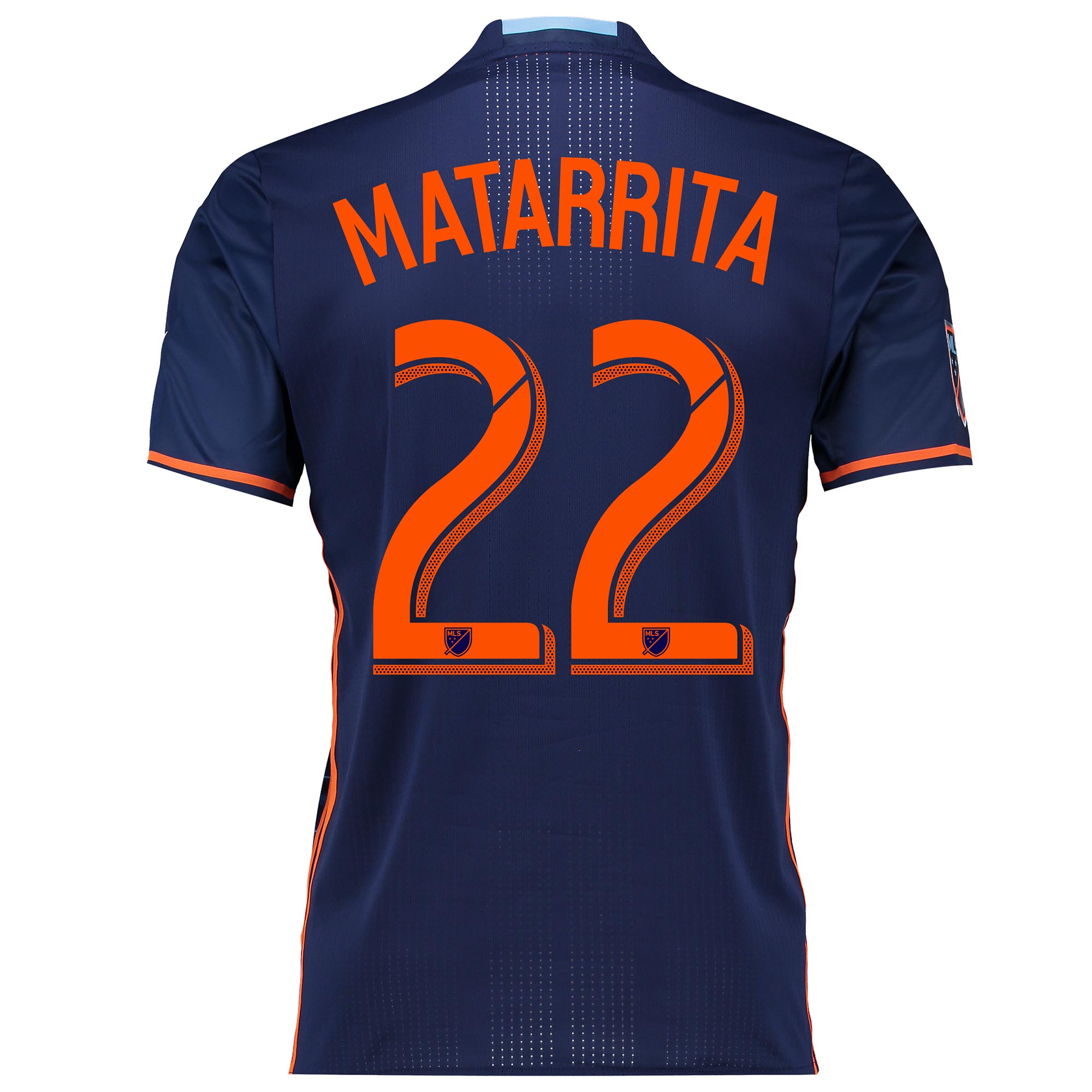 New York City FC Authentic Away Shirt 2016 with Matarrita 22 printing